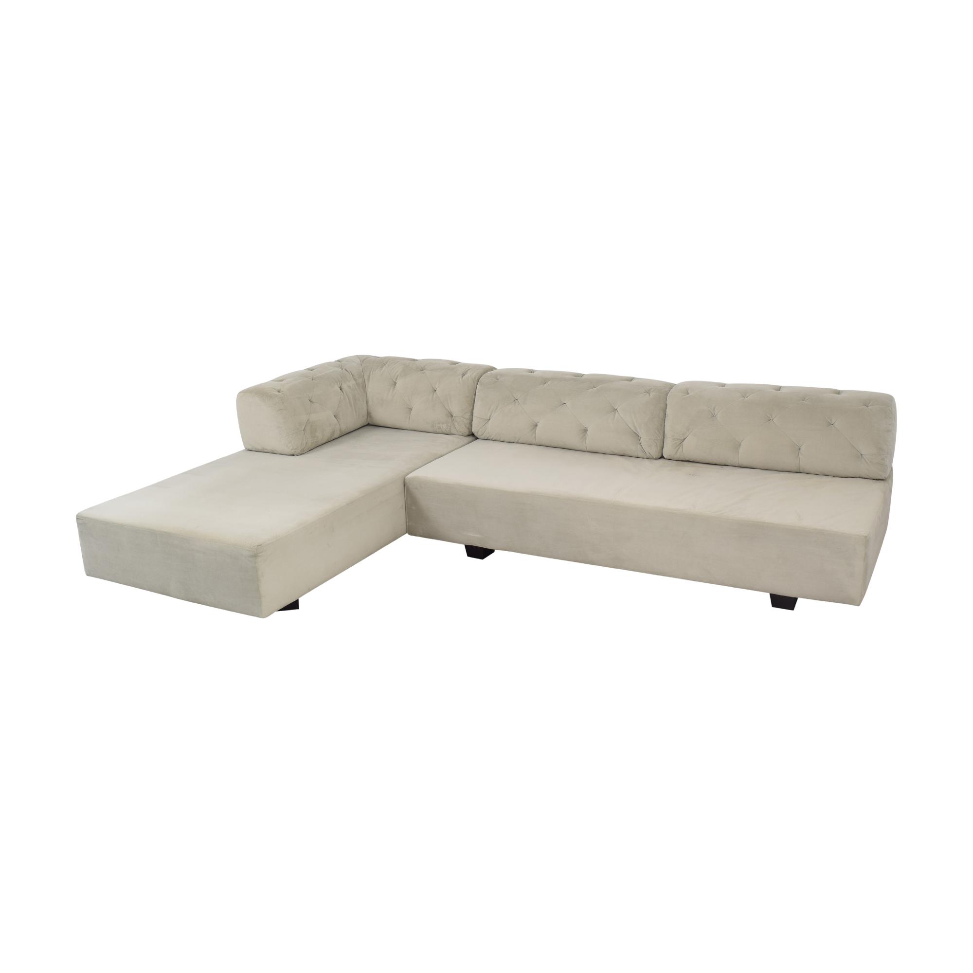 West Elm West Elm Tillary Tufted Sectional Sofa price