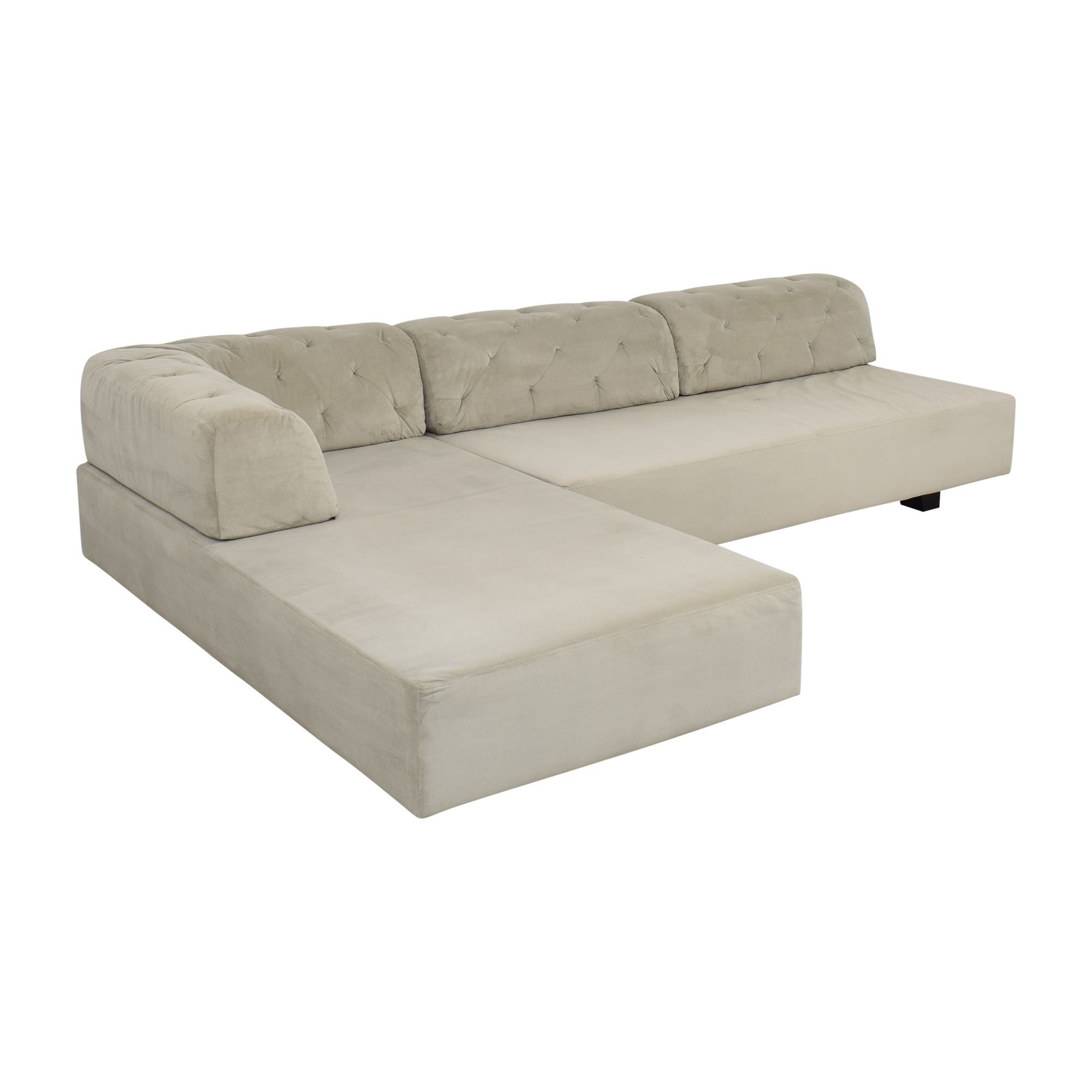 West Elm Tillary Tufted Sectional Sofa / Sofas