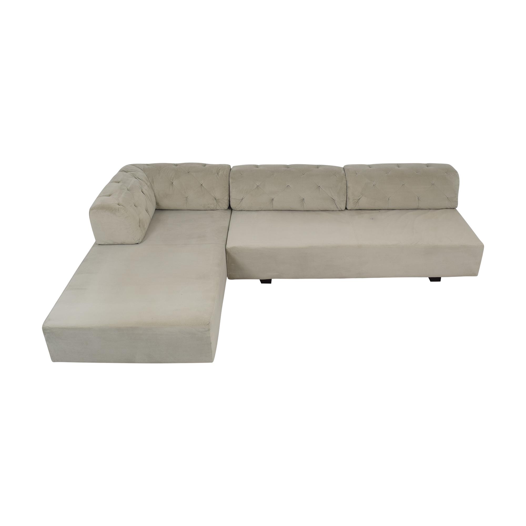 West Elm West Elm Tillary Tufted Sectional Sofa for sale