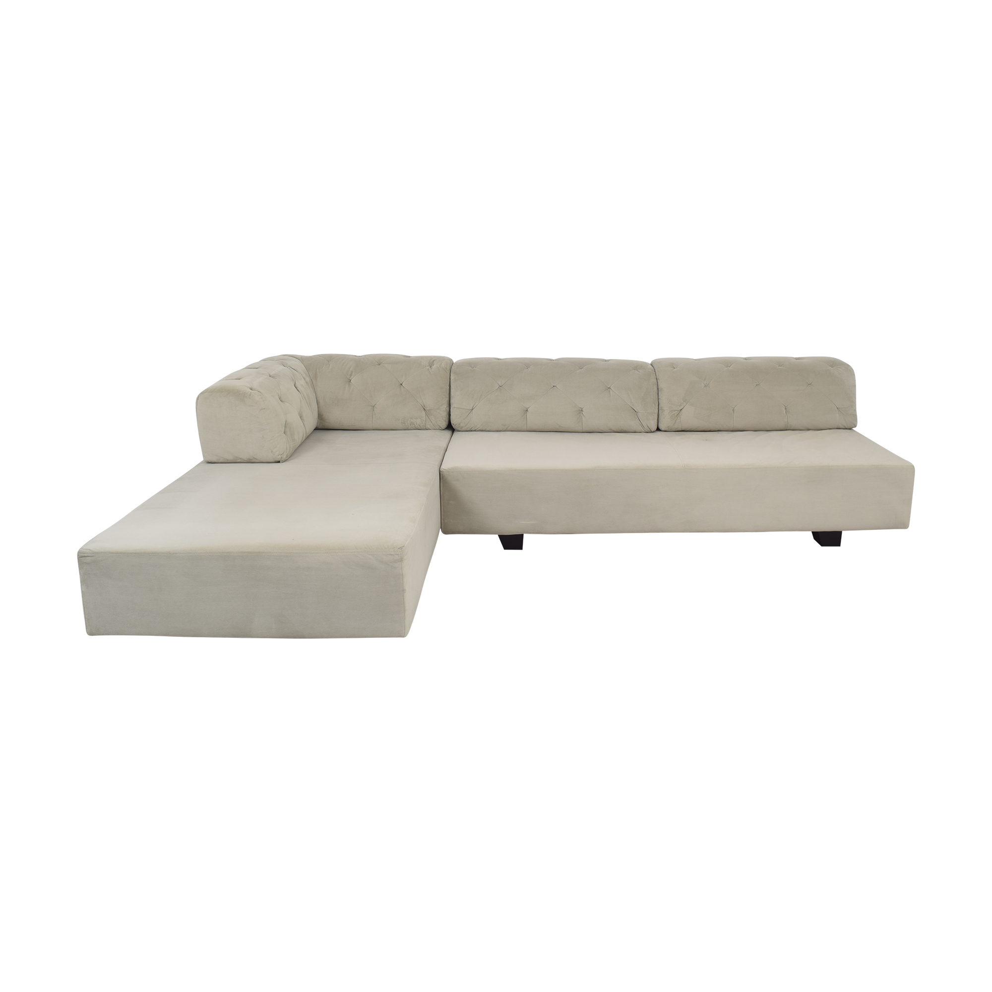 West Elm West Elm Tillary Tufted Sectional Sofa discount