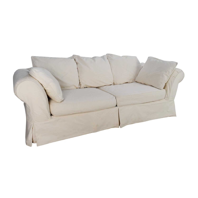 89 Off Jennifer Convertibles Jennifer Convertibles Linda Slipcovered Sofa Sofas