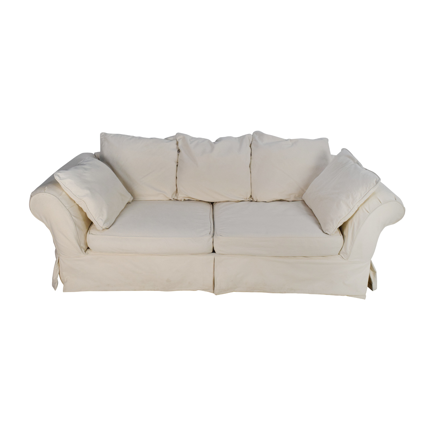 shop Jennifer Convertibles Linda Slipcovered Sofa Jennifer Convertibles Classic Sofas