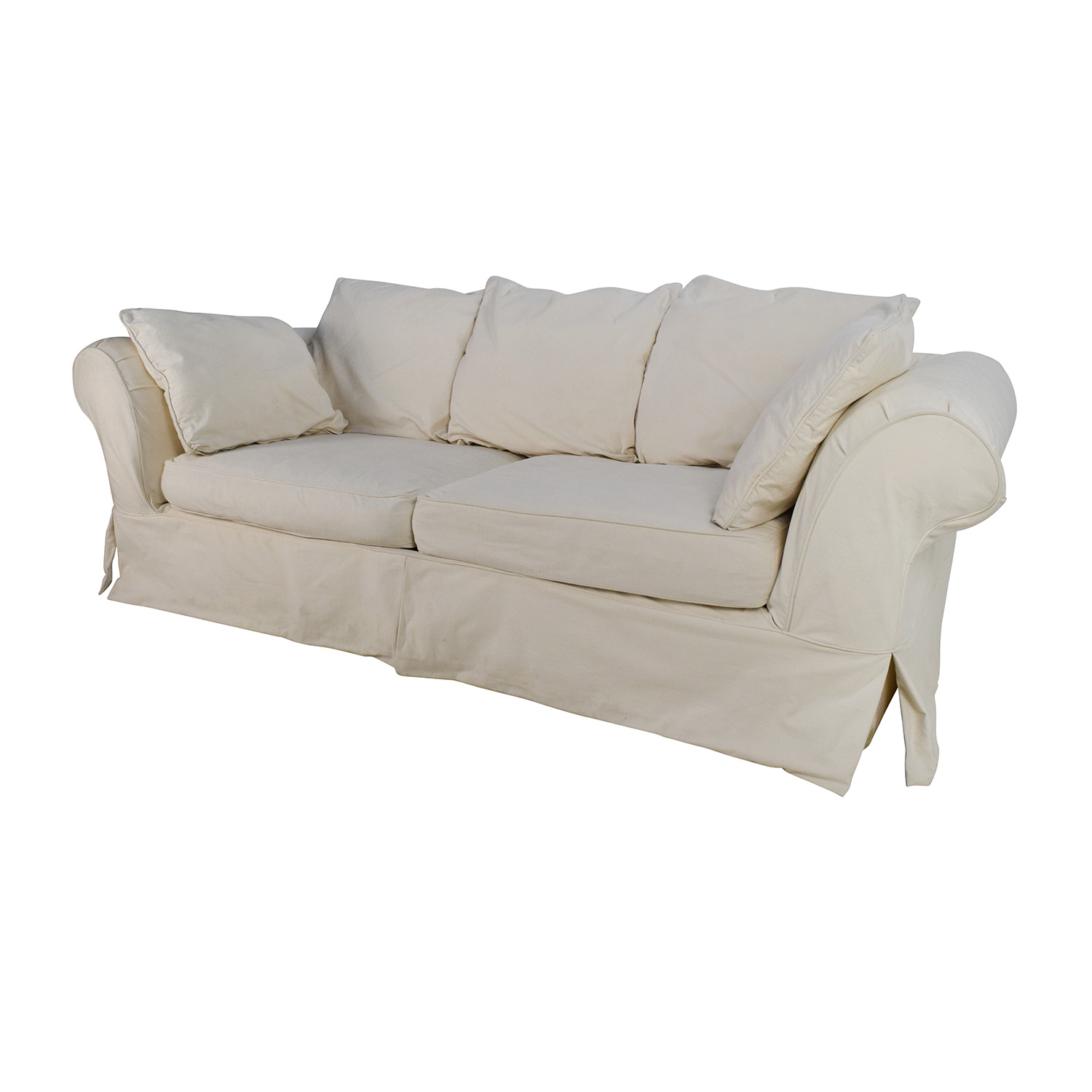 89 Off Jennifer Convertibles Jennifer Convertibles Linda Slipcovered Sofa Sofas
