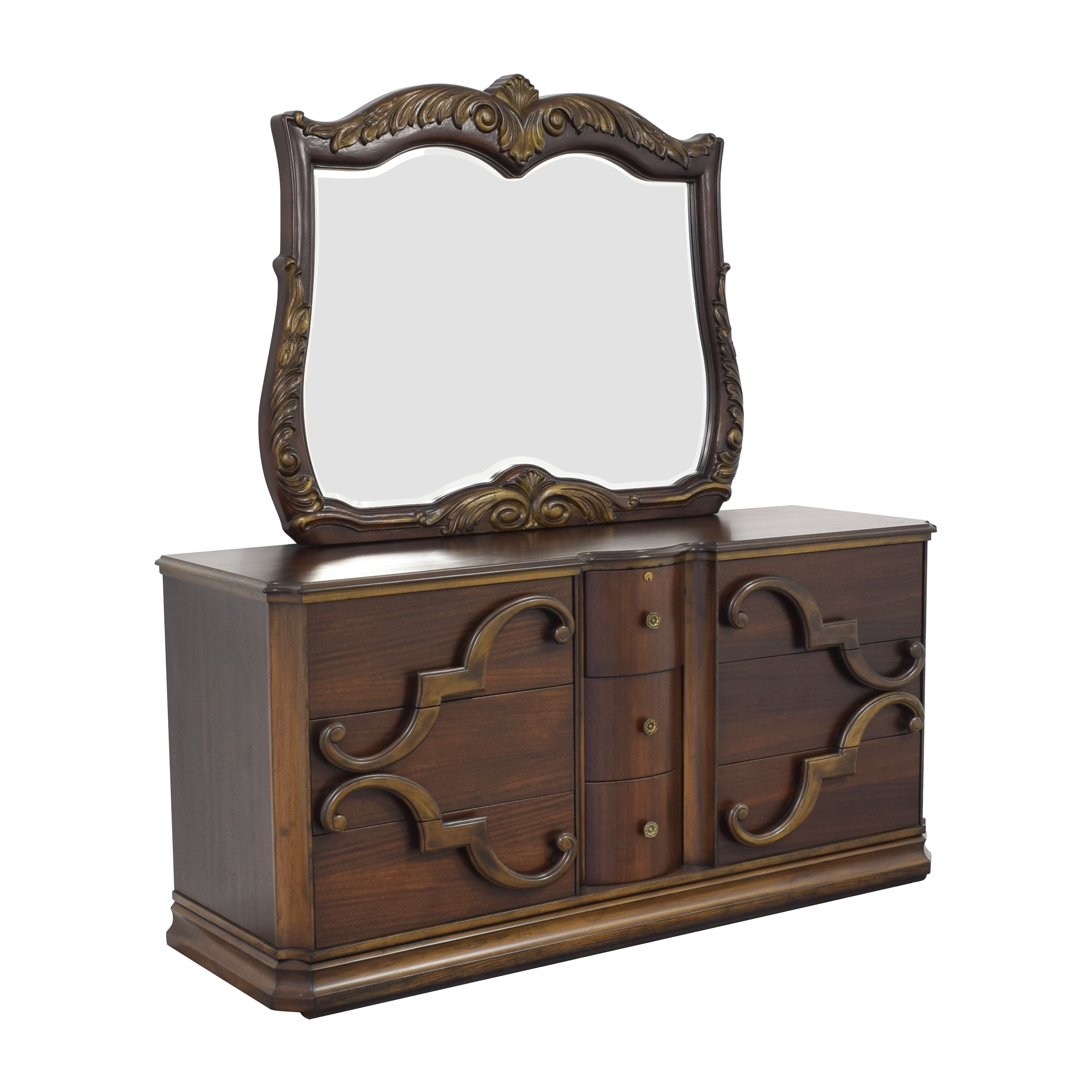 Nine Drawer Dresser with Mirror coupon