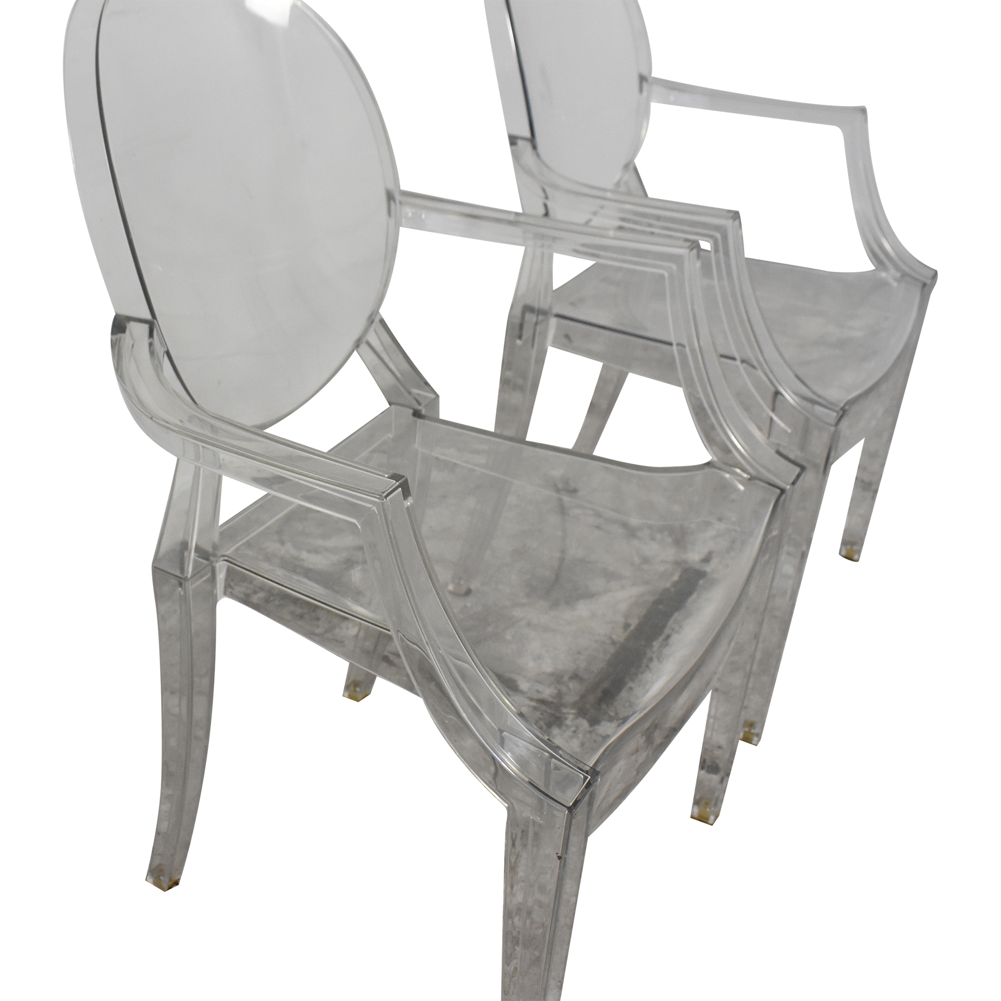 buy Kartell Louis Ghost Chairs by Phillipe Starck Kartell Chairs