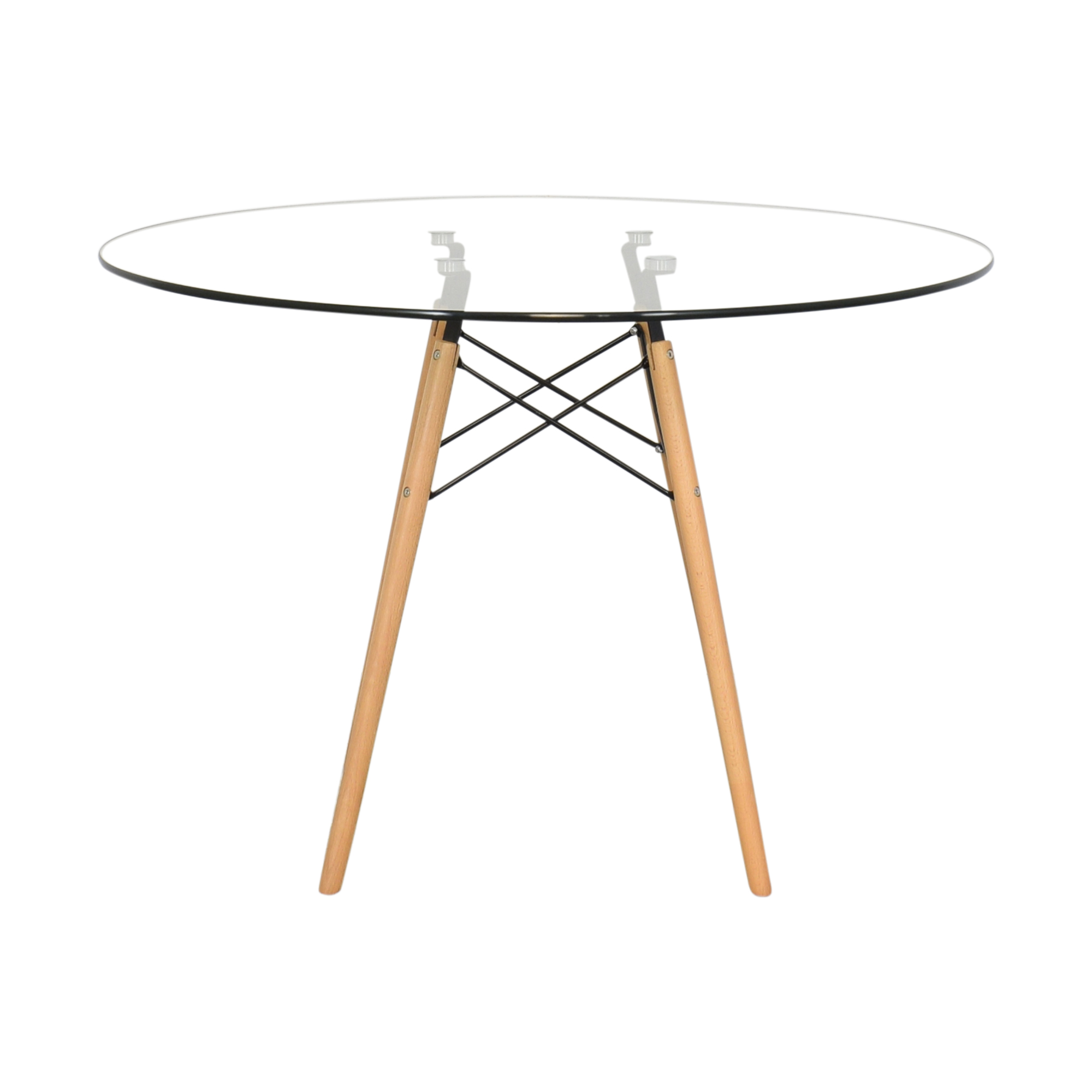 shop Round Transparent Dining Table  Dinner Tables