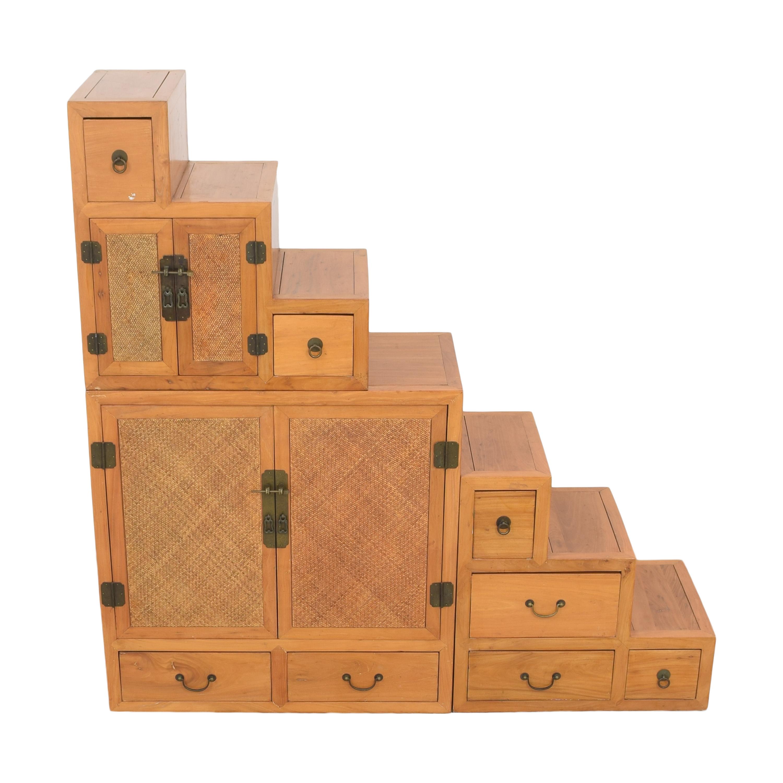 Custom Three Part Cabinet Storage