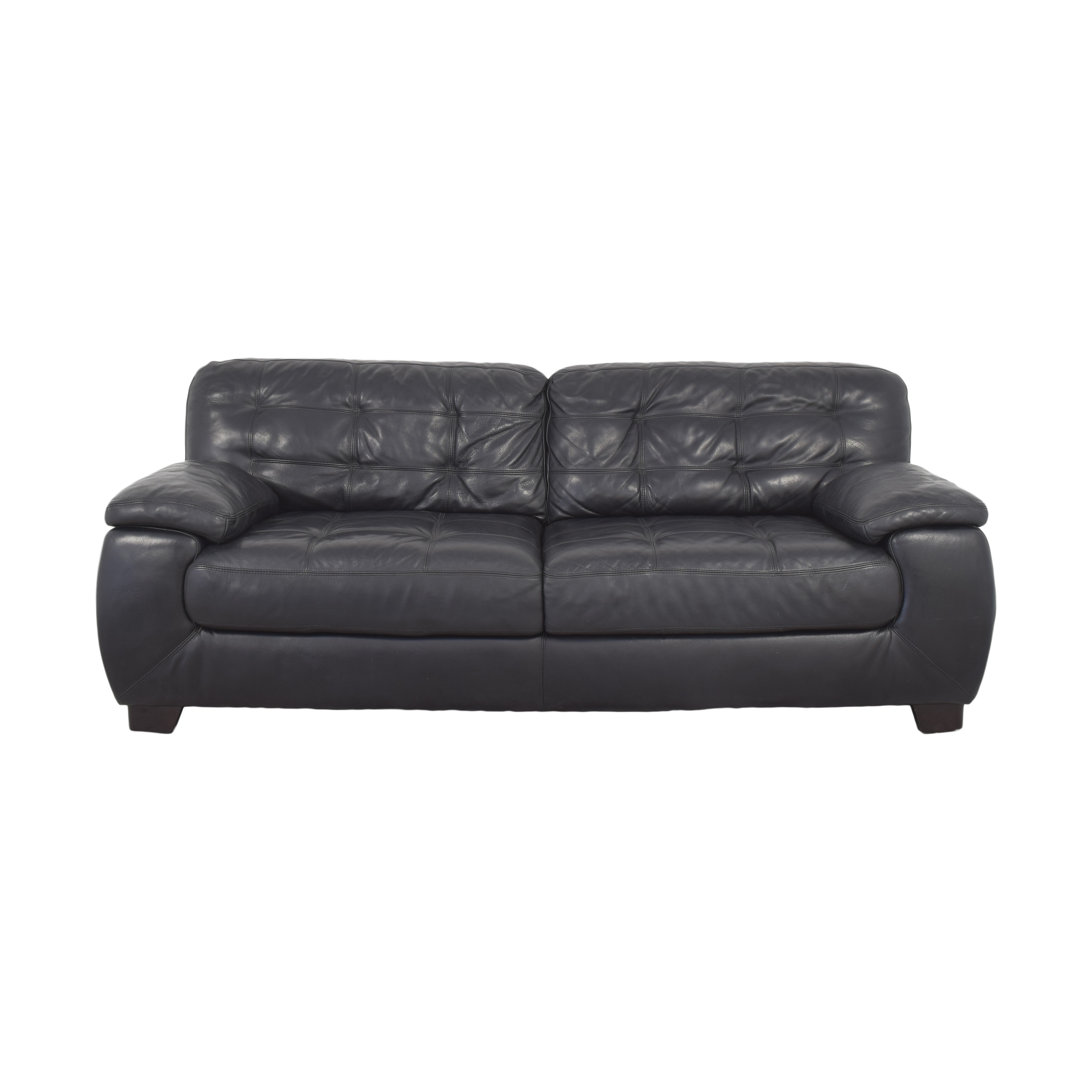 shop Raymour & Flanigan Two Cushion Sofa Raymour & Flanigan