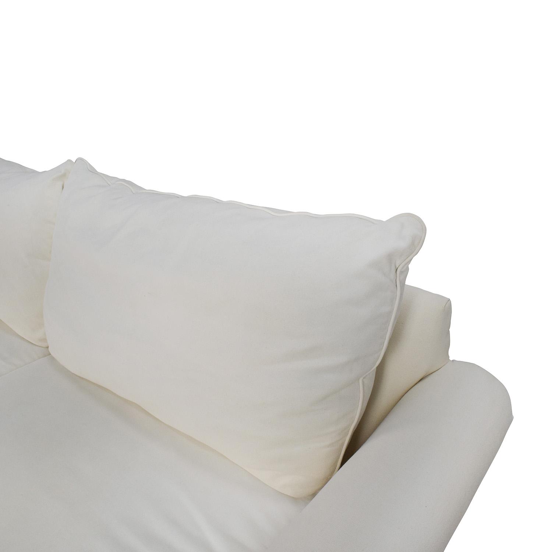 ... Pottery Barn Pottery Barn PB Comfort Roll Arm Upholstered Sofa Used ...