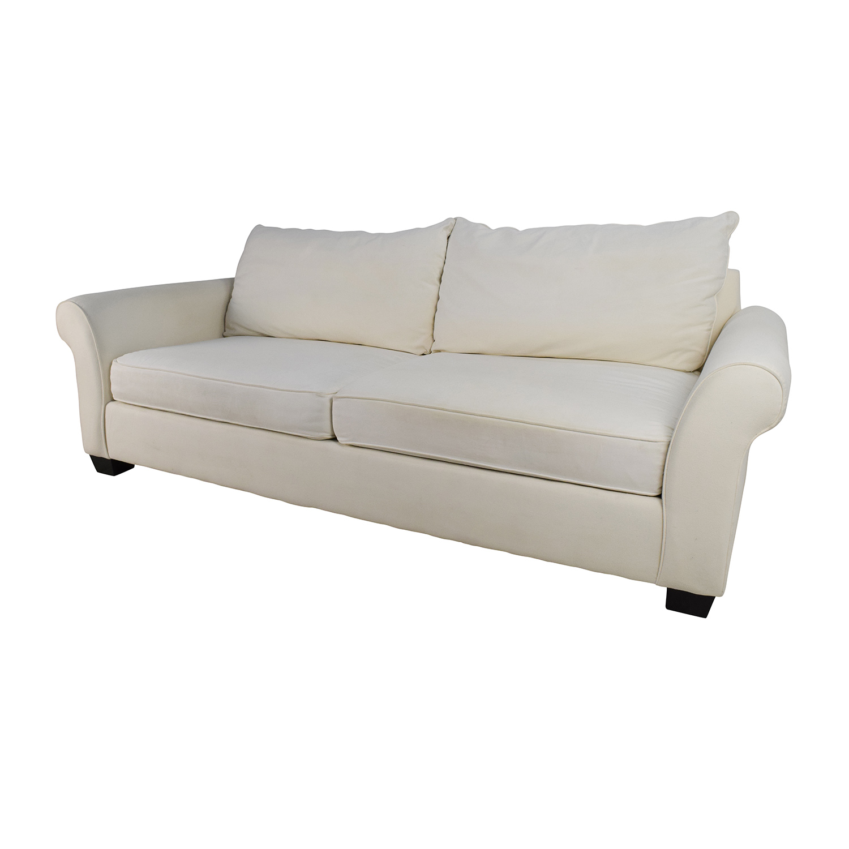 80 Off Pottery Barn Pottery Barn Pb Comfort Roll Arm Upholstered Sofa Sofas