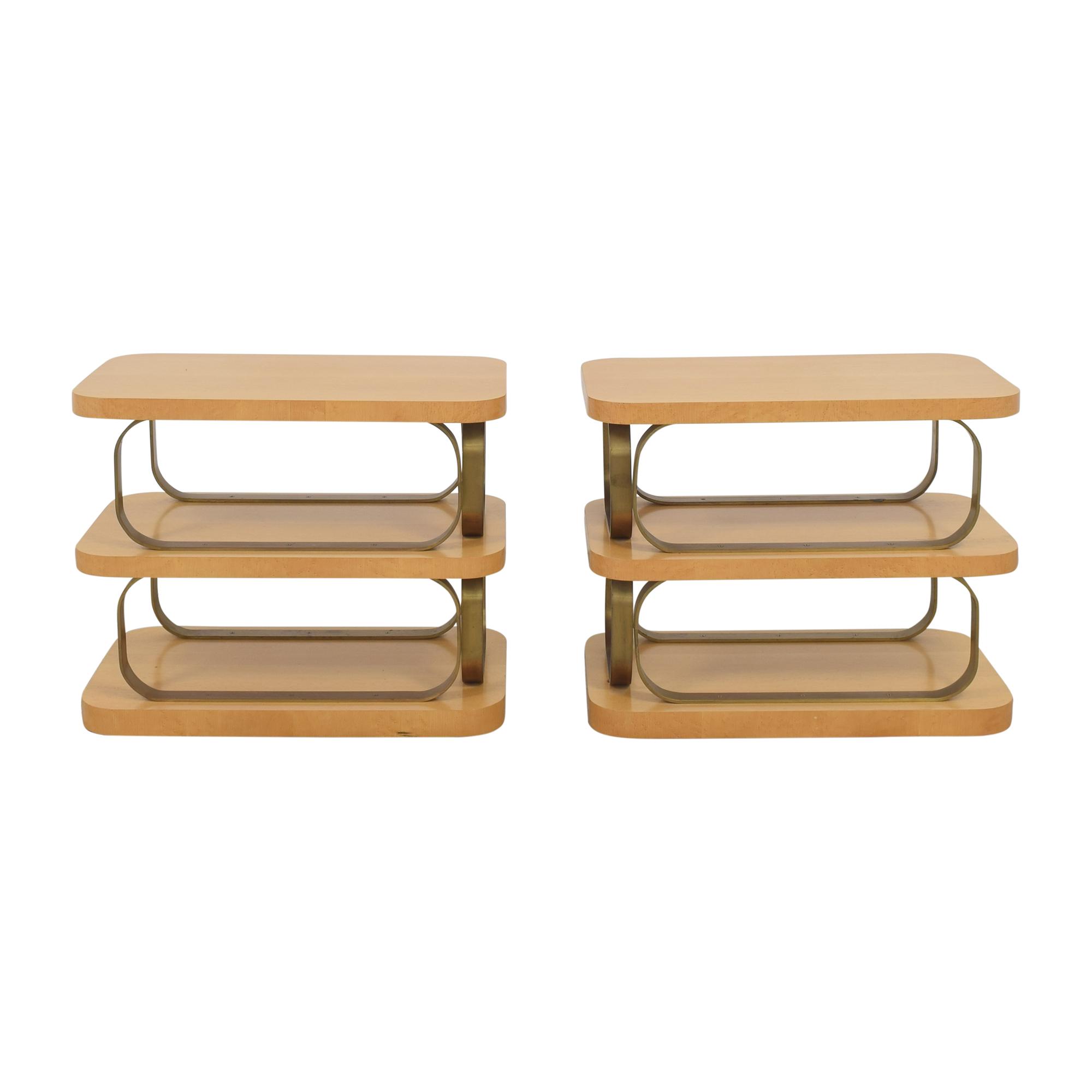 Custom Modern End Tables used
