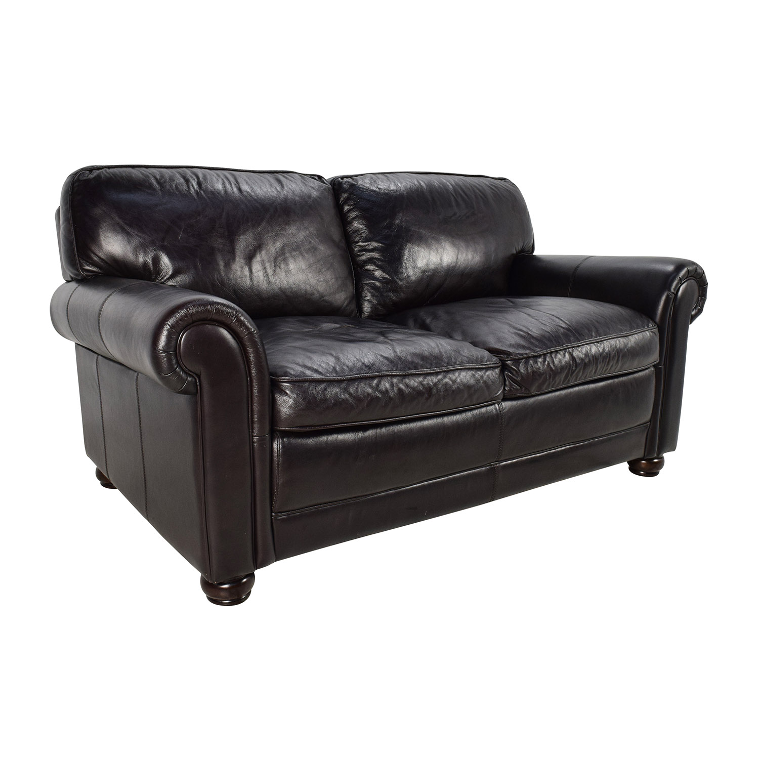82% OFF Bob s Furniture Bob s Furniture Leather Dark Brown Sofa