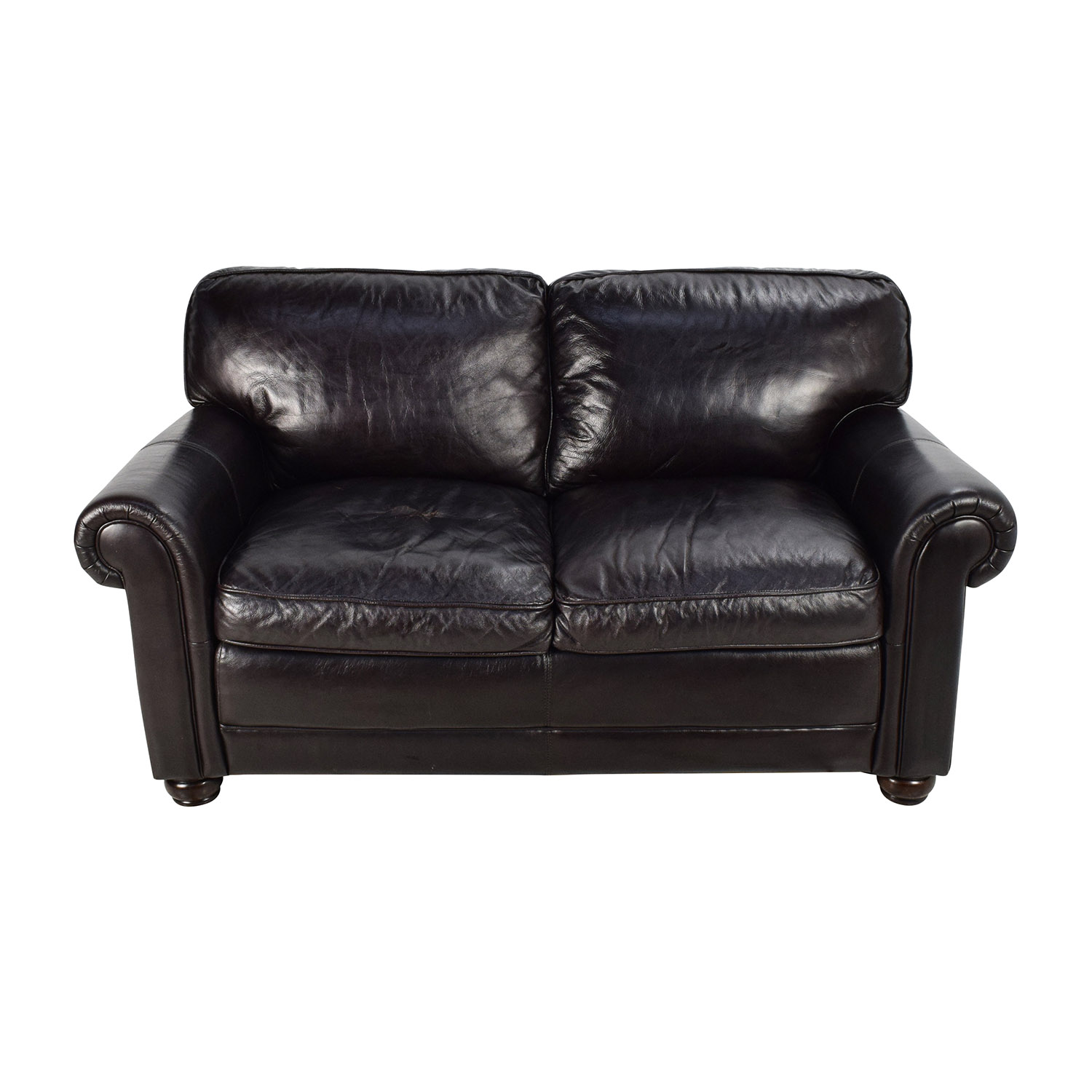 buy Bobs Furniture Leather Dark Brown Sofa Bobs Furniture Classic Sofas