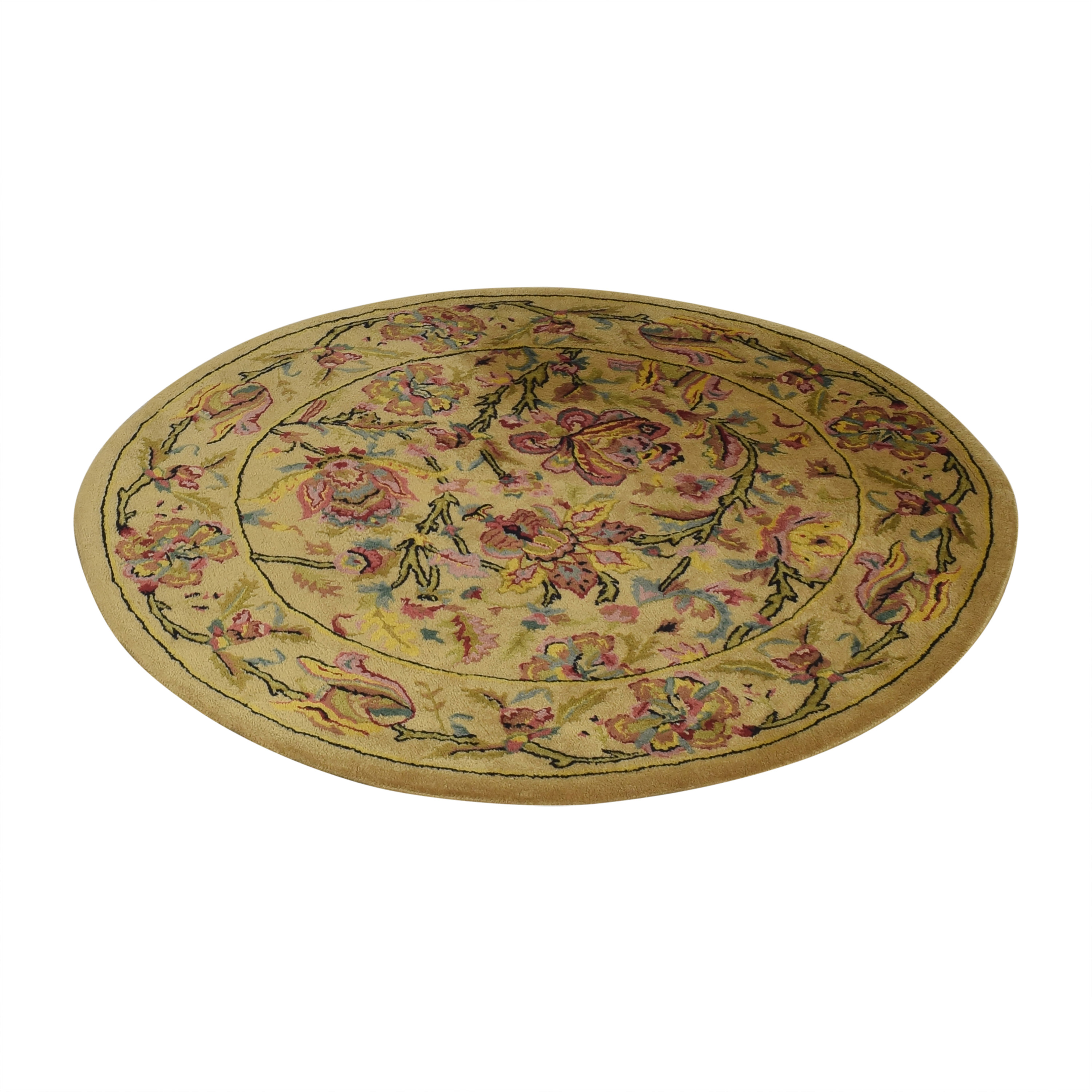 Patterned Round Rug ma