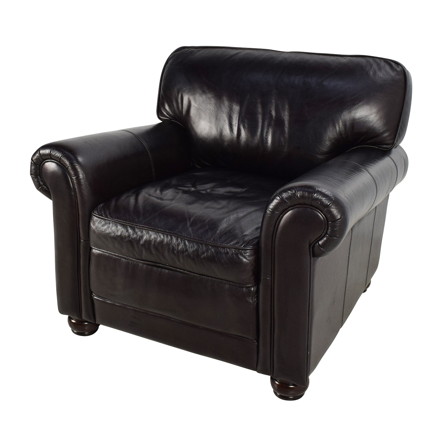 74 Off Bobs Furniture Bob 39 S Furniture Leather Dark Brown Chair Chairs