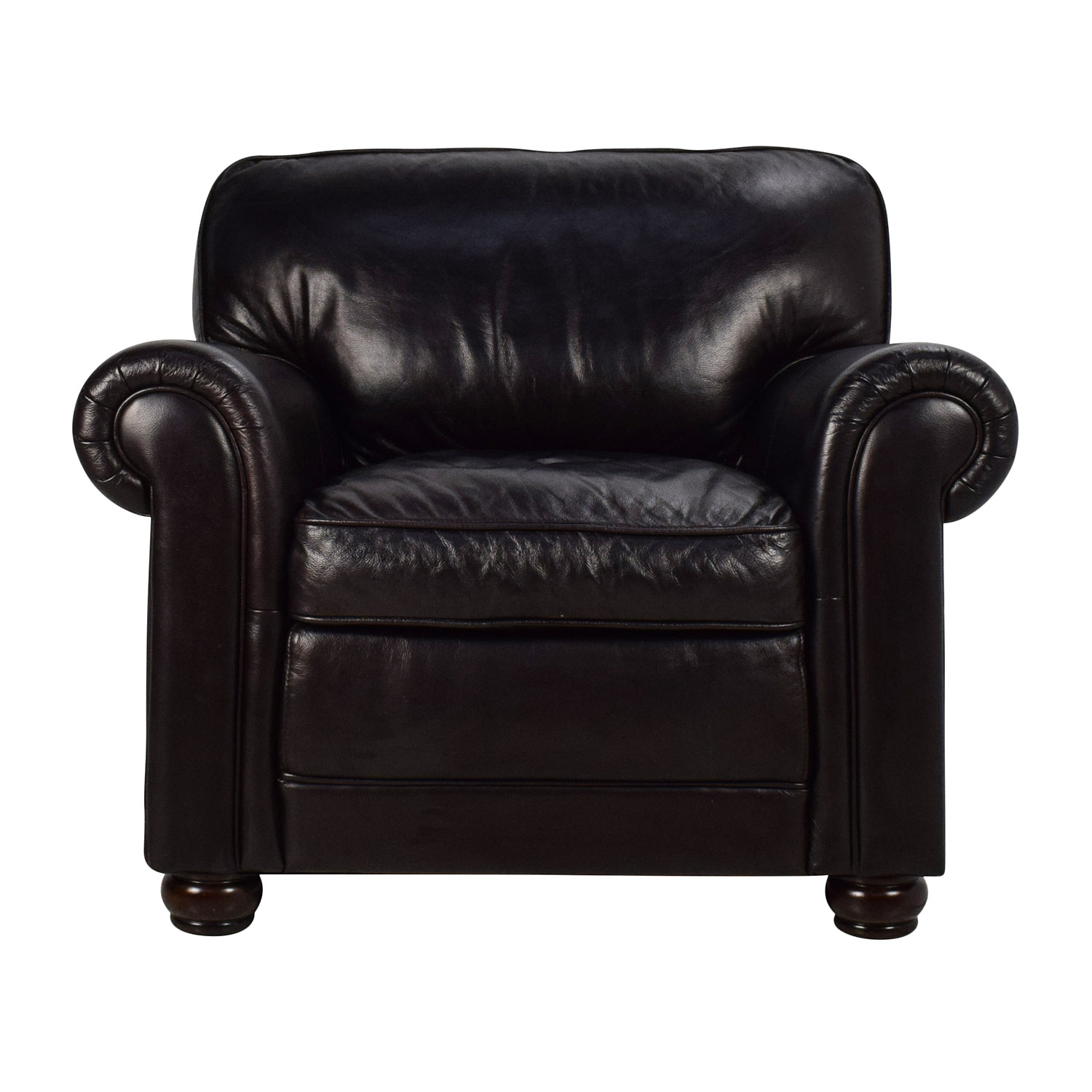 74% OFF Bobs Furniture Bob s Furniture Leather Dark Brown Chair