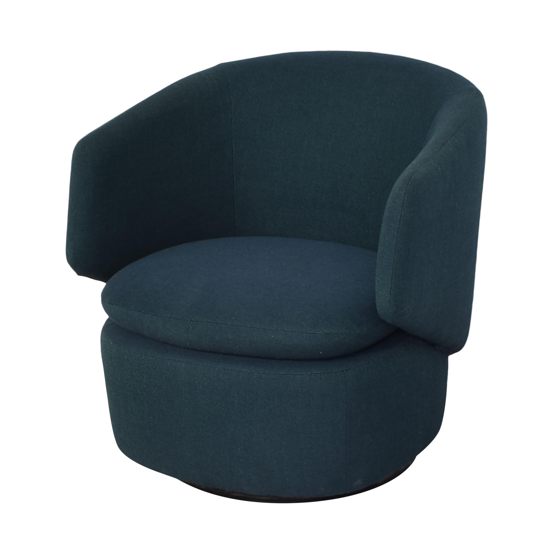 shop West Elm Crescent Swivel Chair West Elm Accent Chairs