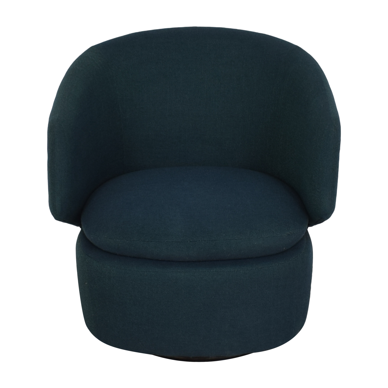 buy West Elm Crescent Swivel Chair West Elm