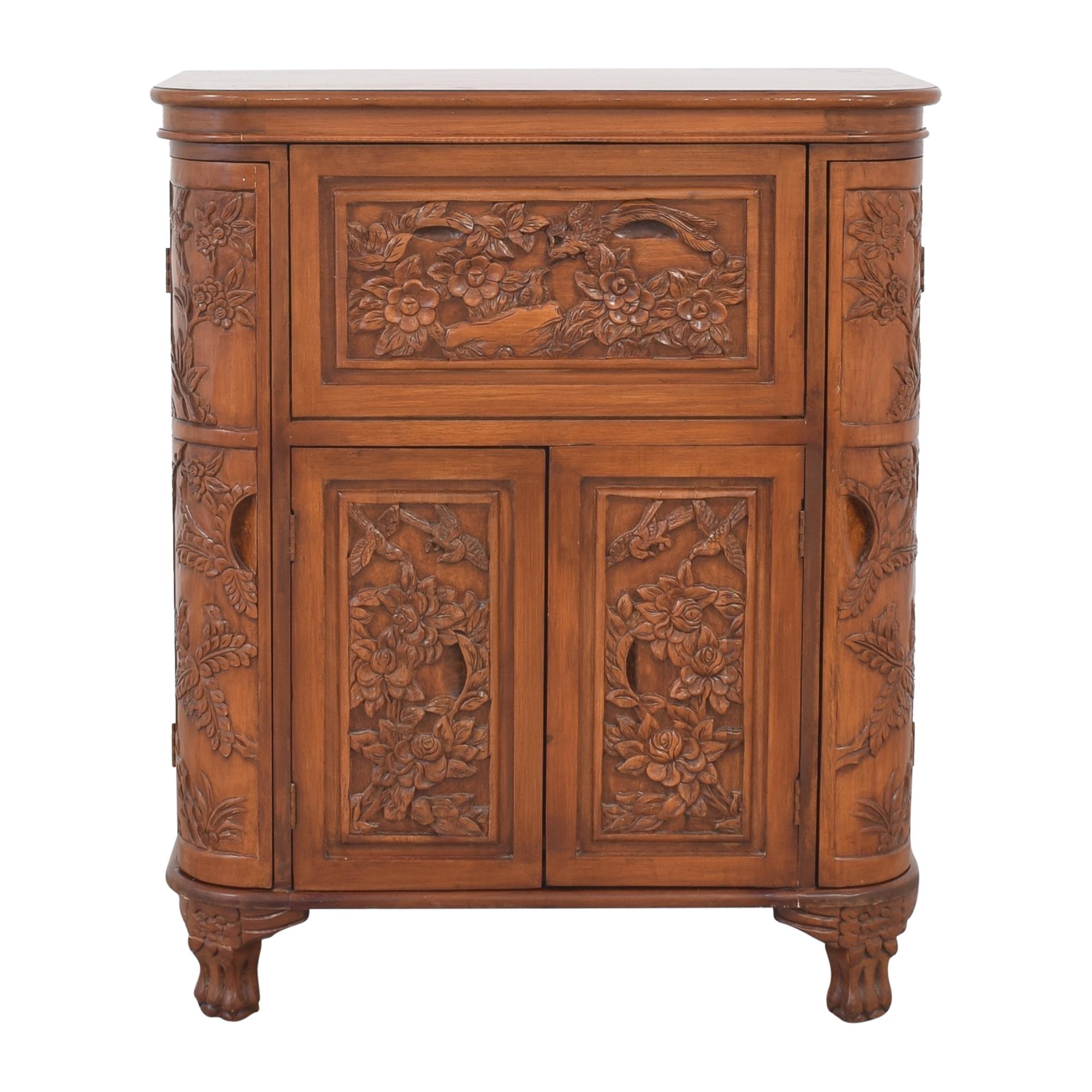 Carved Bar Cabinet for sale