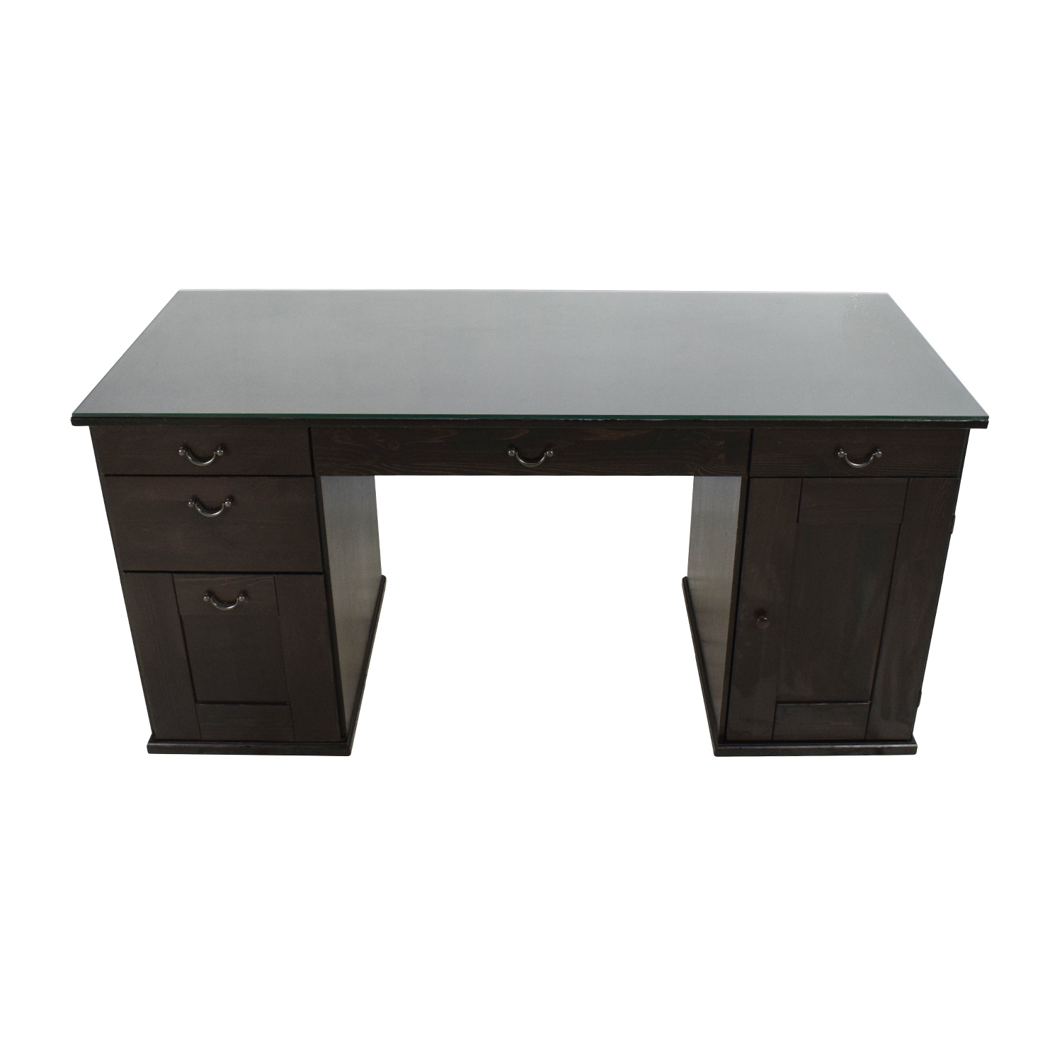 65 OFF  IKEA IKEA Glass Top Office Desk  Tables
