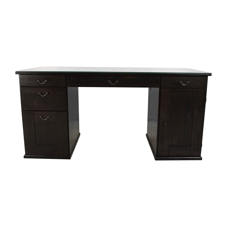 IKEA IKEA Glass Top Office Desk / Tables