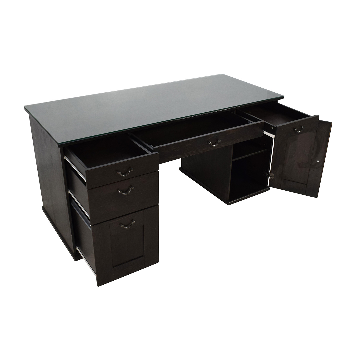 furniture tables home office desks ikea glass top office desk