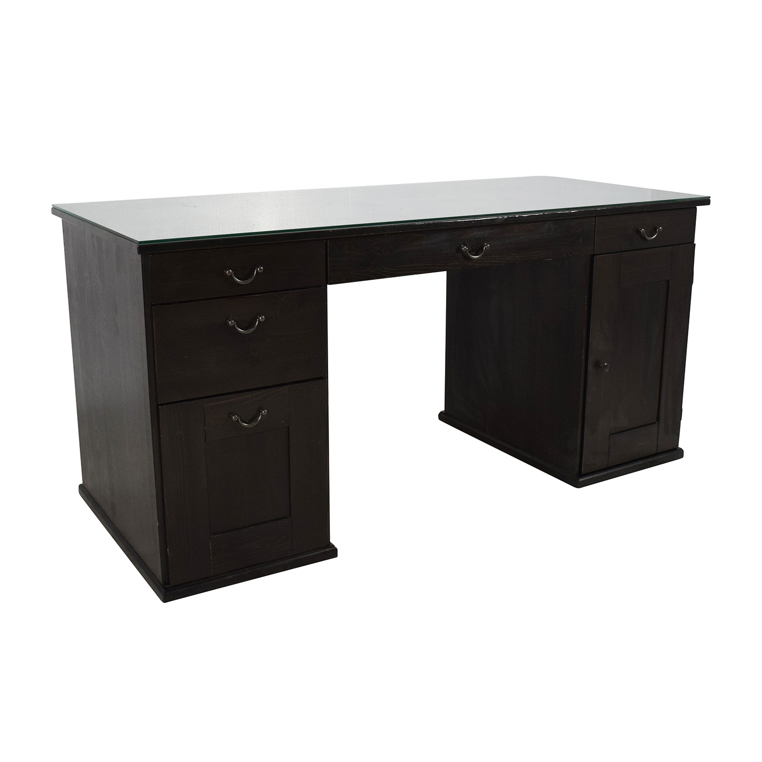 ikea black brown desk hostgarcia. Black Bedroom Furniture Sets. Home Design Ideas