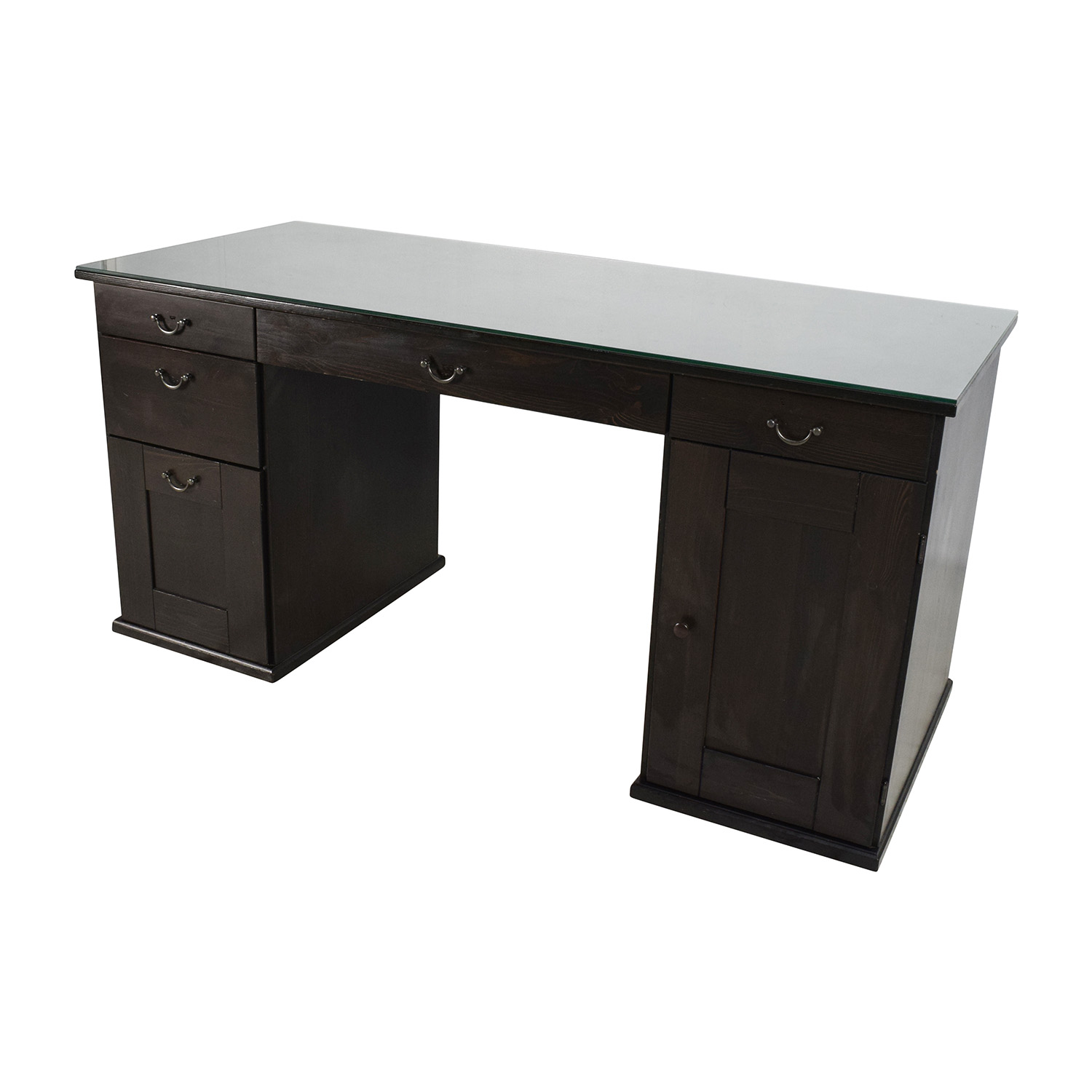 65 off ikea ikea glass top office desk tables. Black Bedroom Furniture Sets. Home Design Ideas