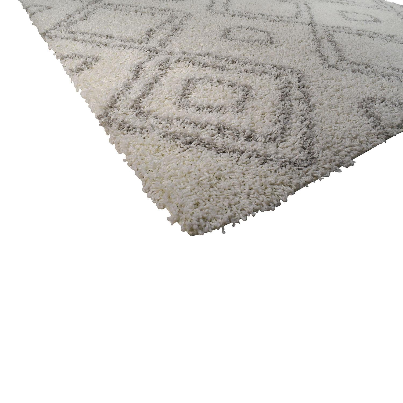 nuLOOM Alexa Moroccan Trellis Shag Rug / Decor