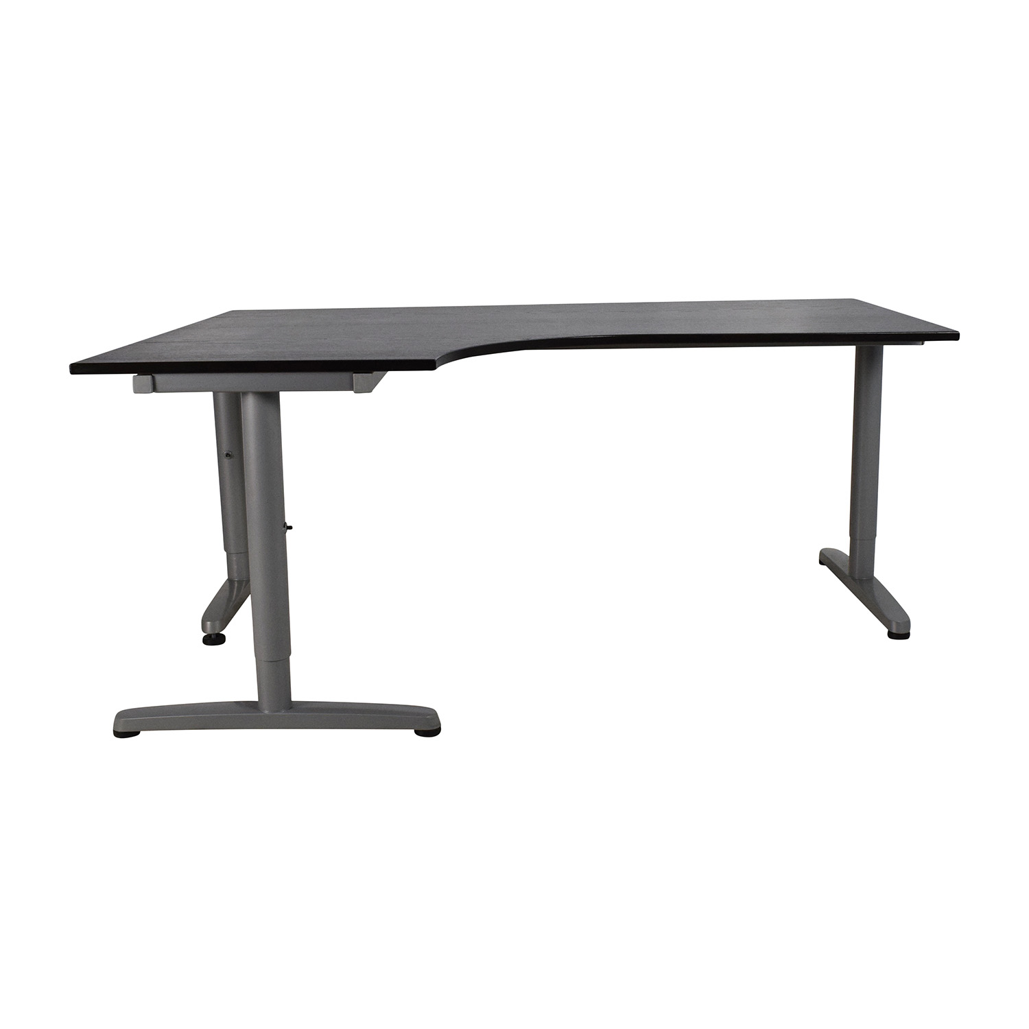 desk ikea standing from parts mostly a long sm front with