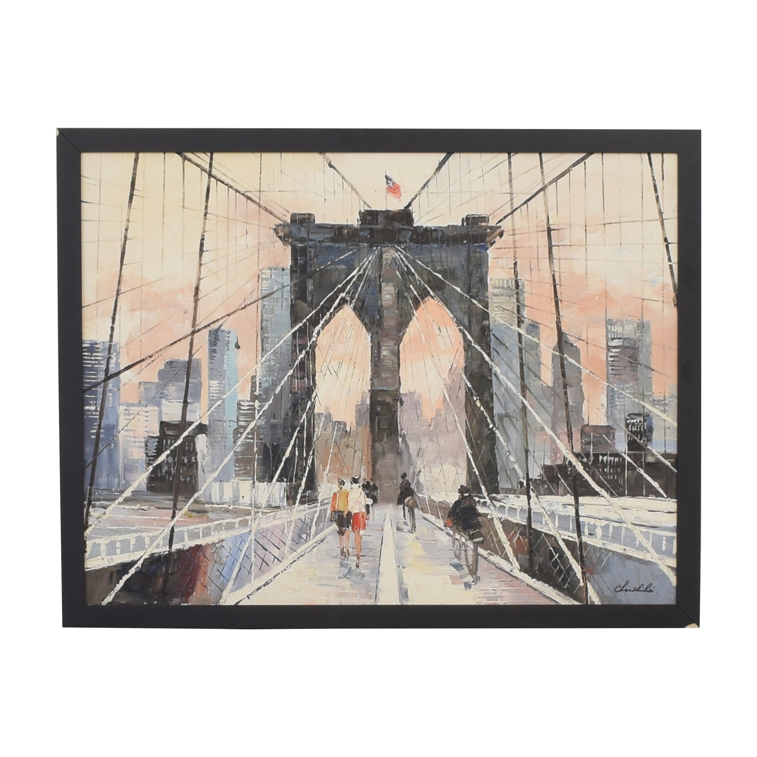 Brooklyn Bridge Framed Wall Art