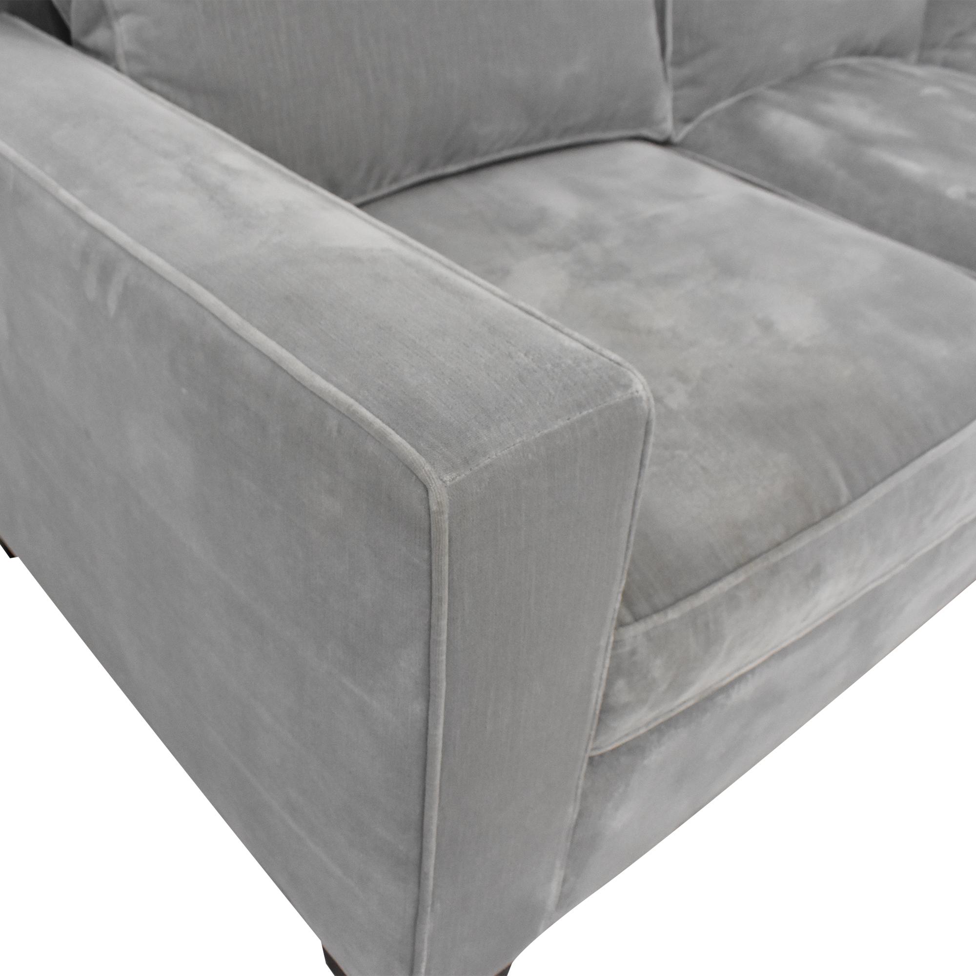 Ralph Lauren Home Ralph Lauren Home Three Cushion Sofa Grey
