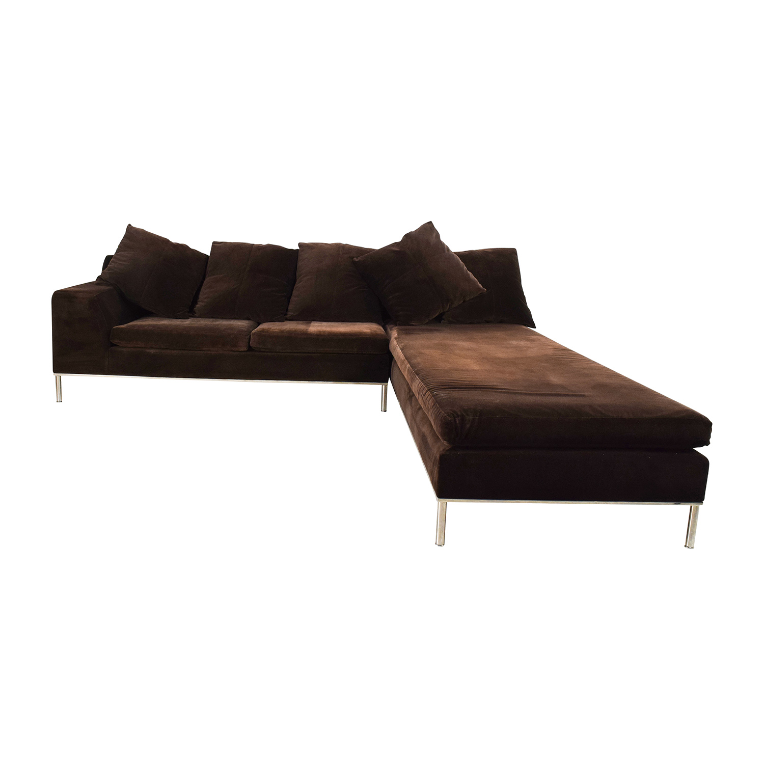 87% OFF - Vioski Vioski Velvet Lounge Sectional Sofa / Sofas
