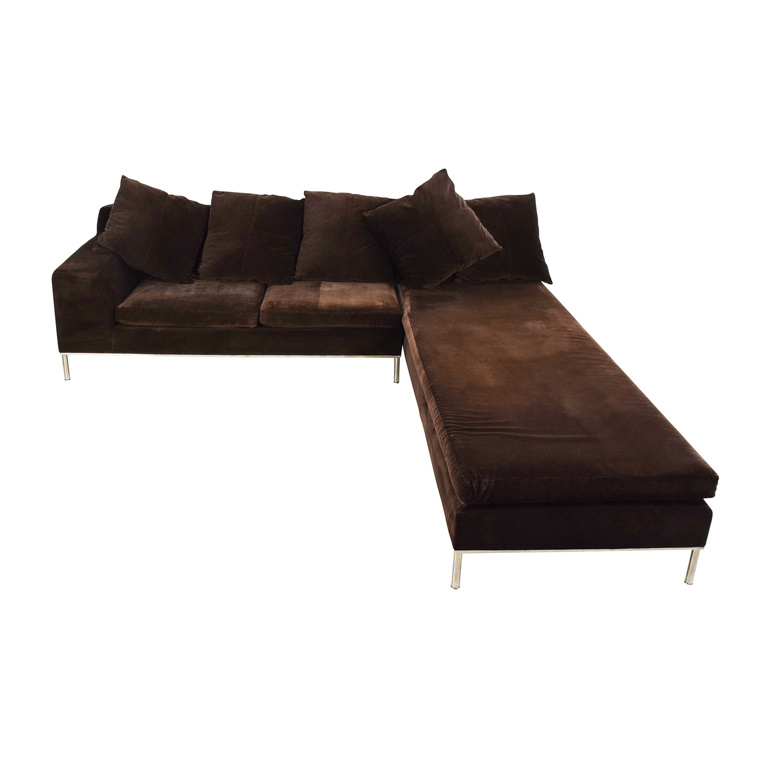 shop Vioski Vioski Velvet Lounge Sectional Sofa online