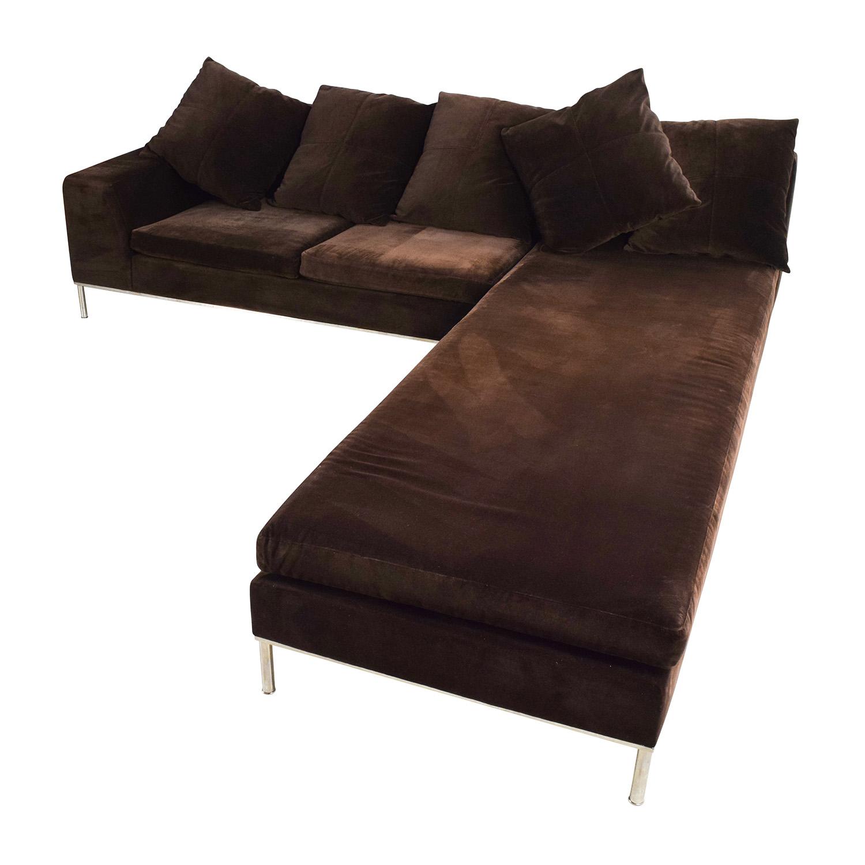 87 OFF Vioski Vioski Velvet Lounge Sectional Sofa Sofas
