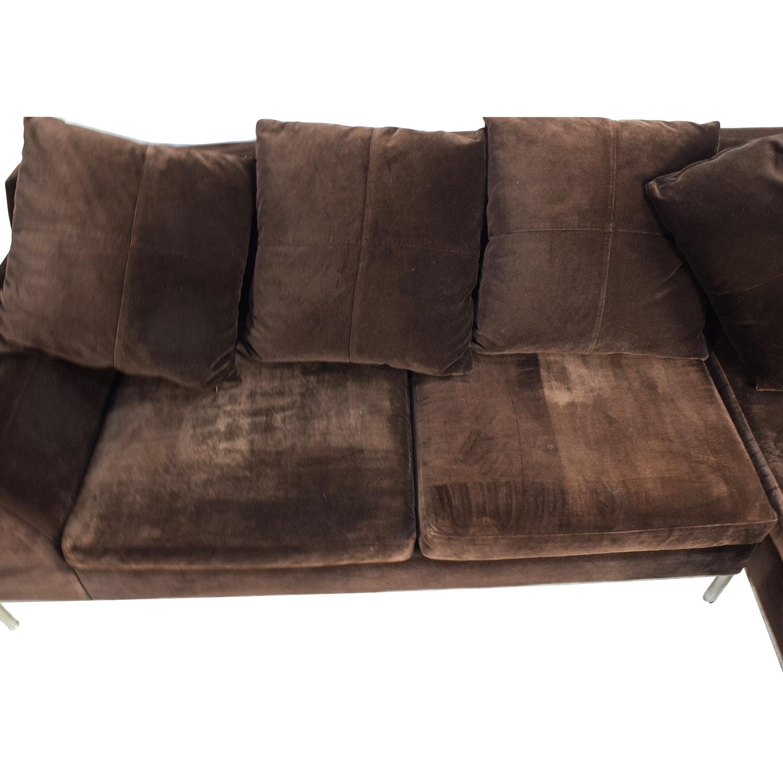 87% OFF Vioski Vioski Velvet Lounge Sectional Sofa Sofas