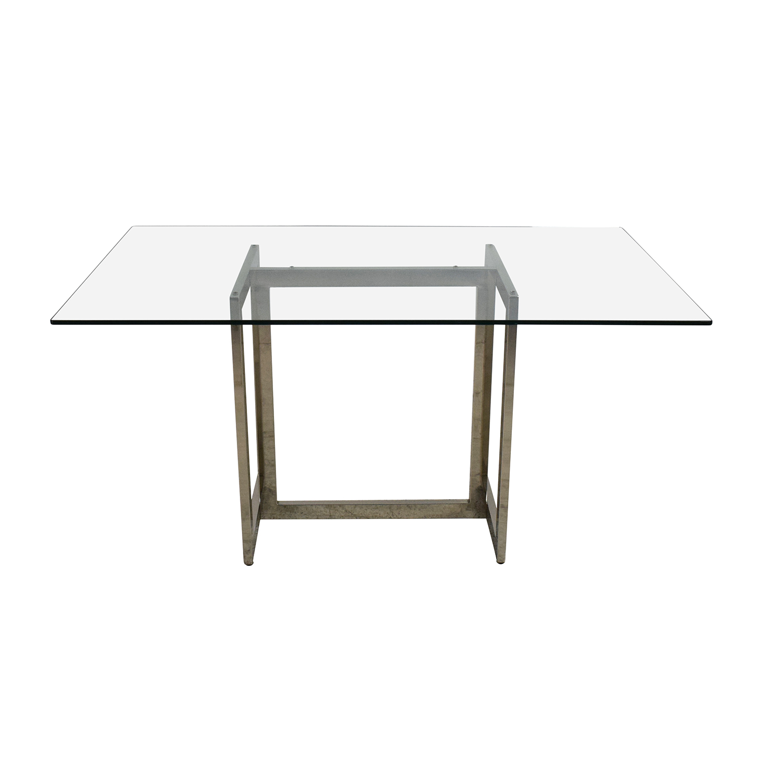 OFF West Elm West Elm Hicks Glass Top Dining Table Tables - West elm square dining table