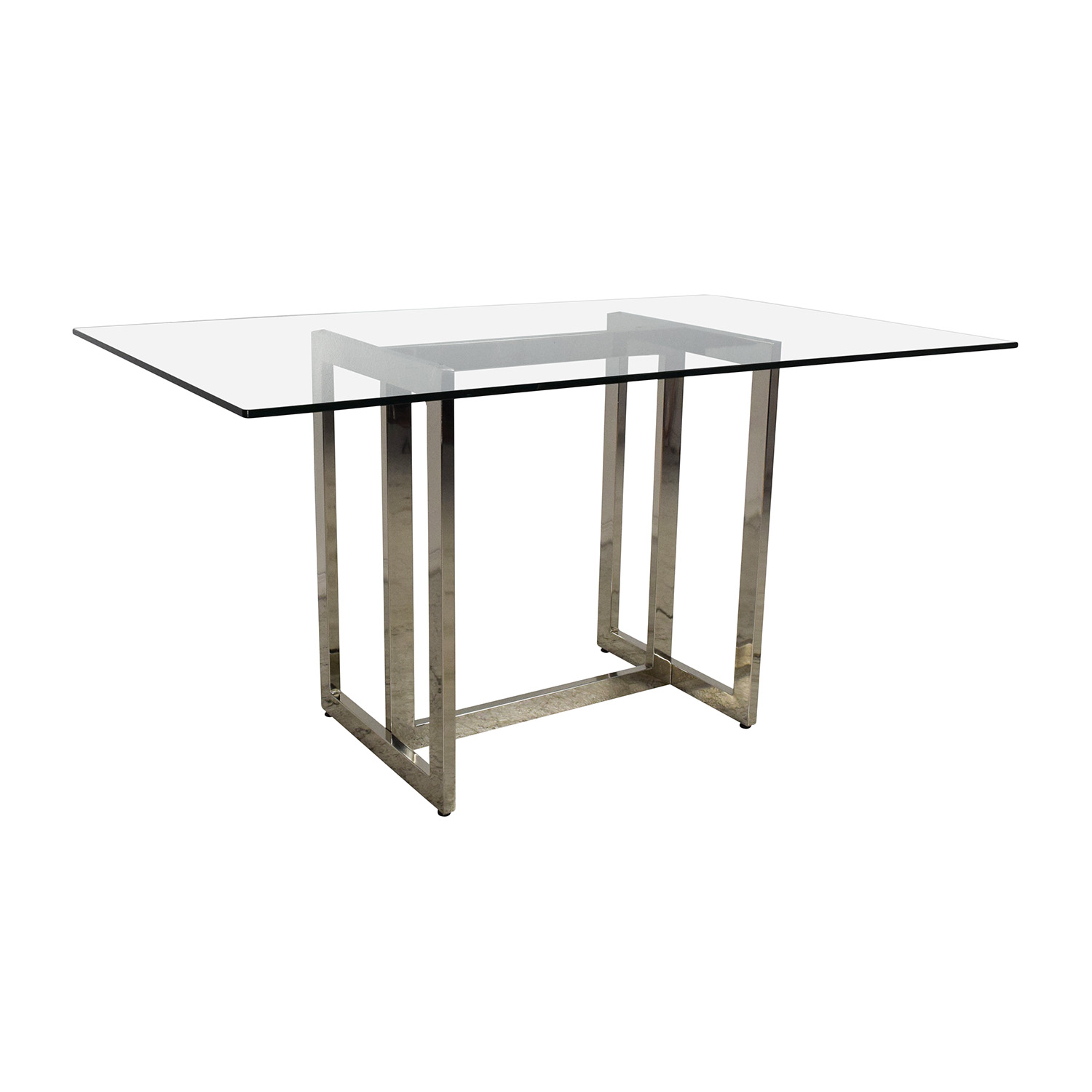 West Elm Hicks Glass Top Dining Table Nj