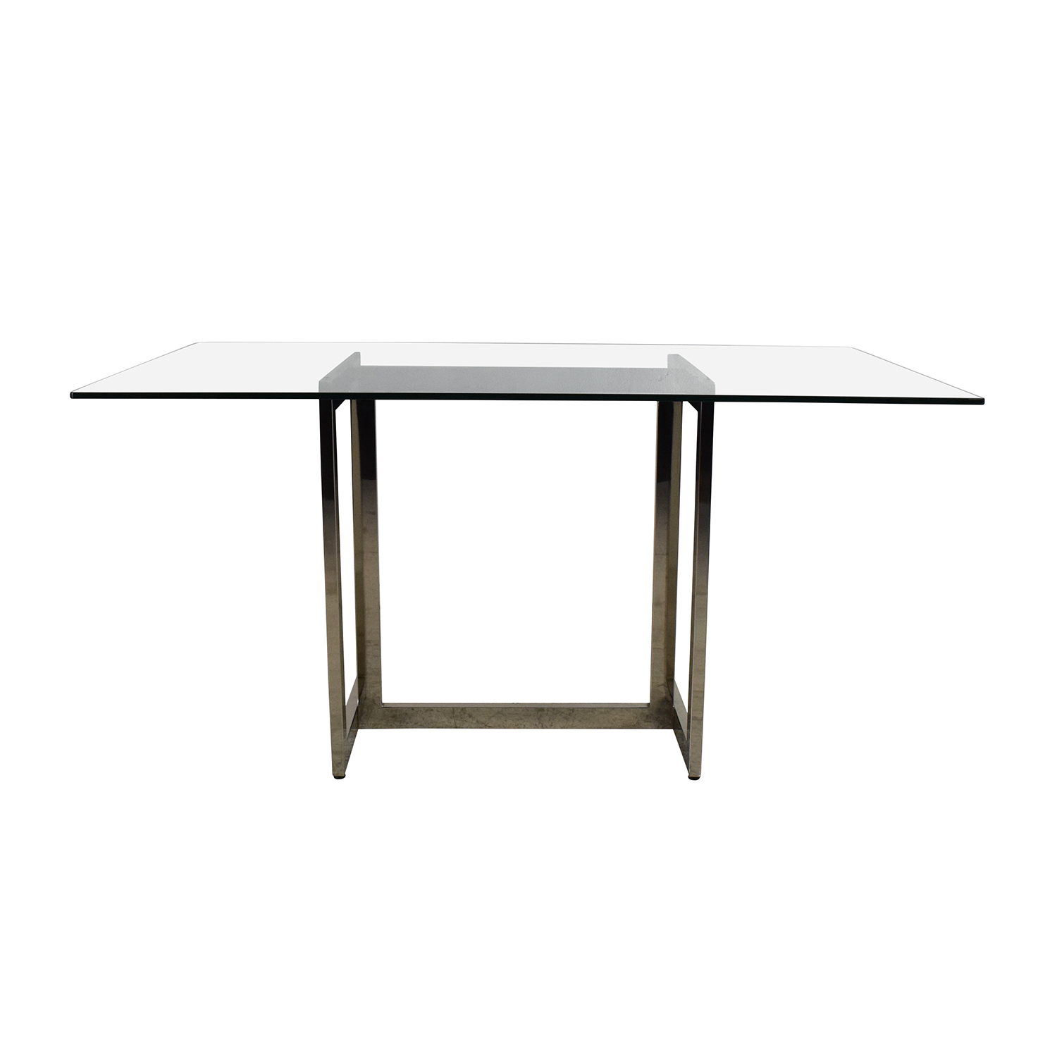 West Elm West Elm Hicks Glass Top Dining Table Nyc ...