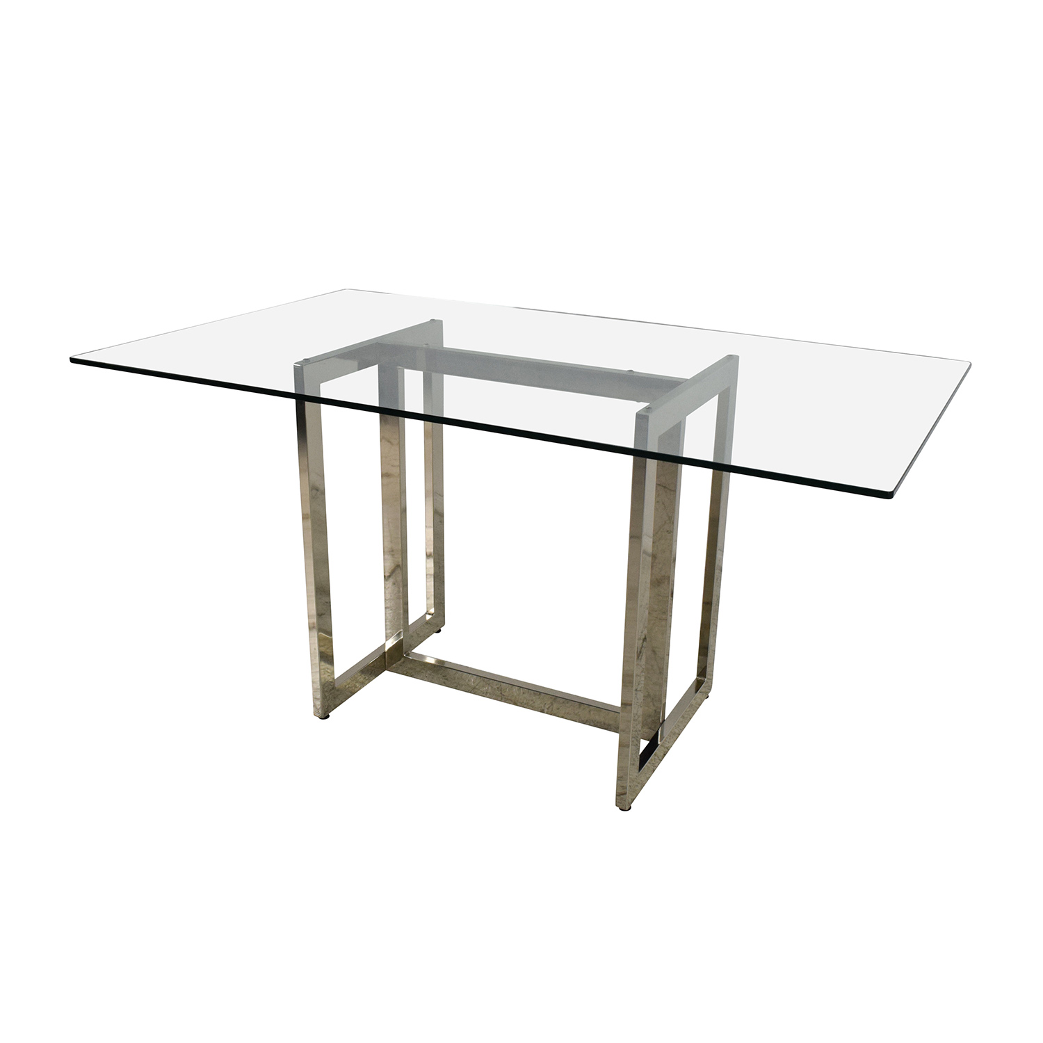 61 Off West Elm West Elm Hicks Glass Top Dining Table
