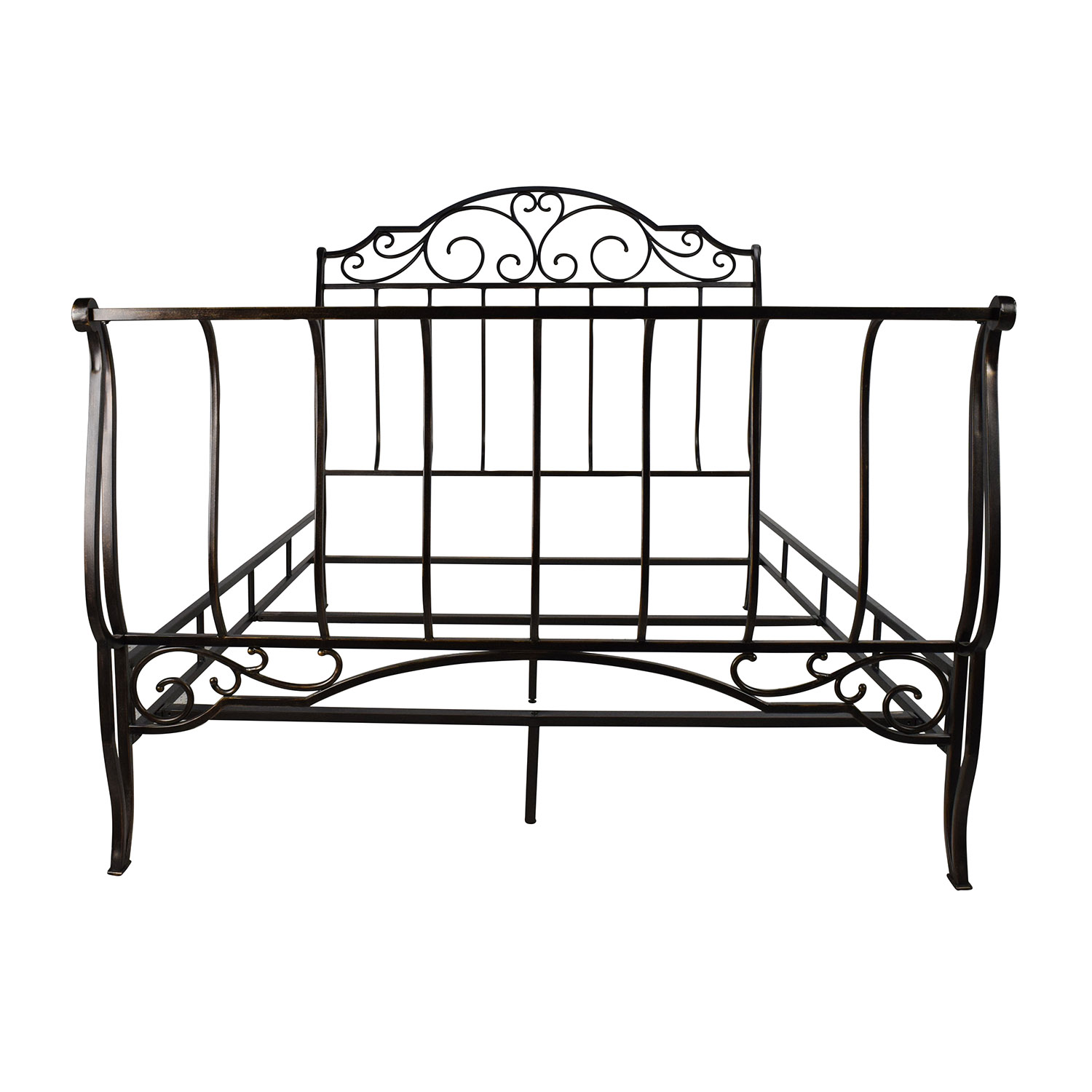 84% OFF - Tribeca Home Tribeca Home Bronze Metal Full Size Bed Frame ...