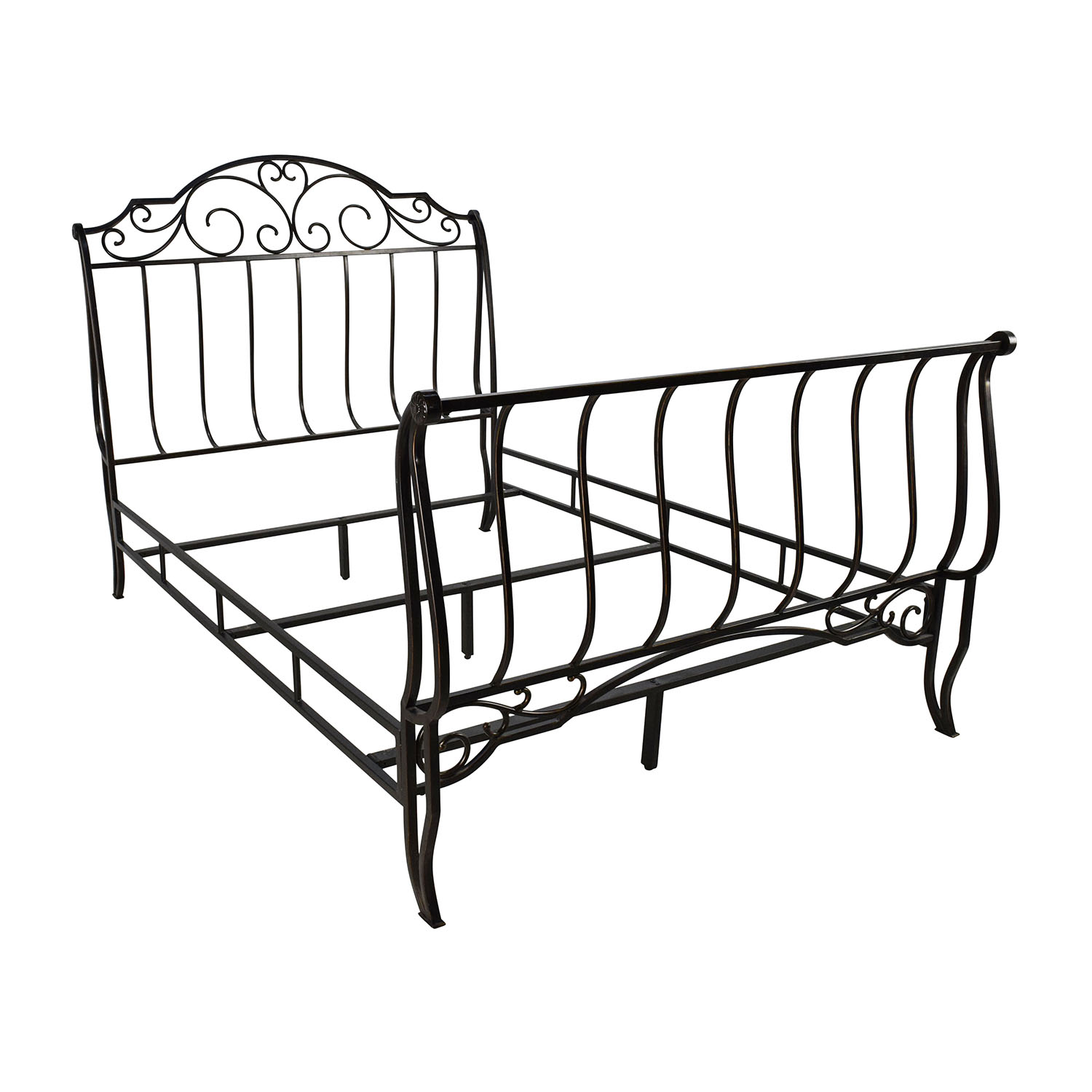 84 off tribeca home tribeca home bronze metal full size for Full size bed frame