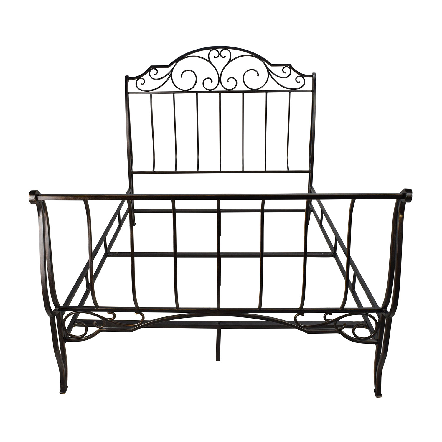 Tribeca Home Tribeca Home Bronze Metal Full Size Bed Frame nyc