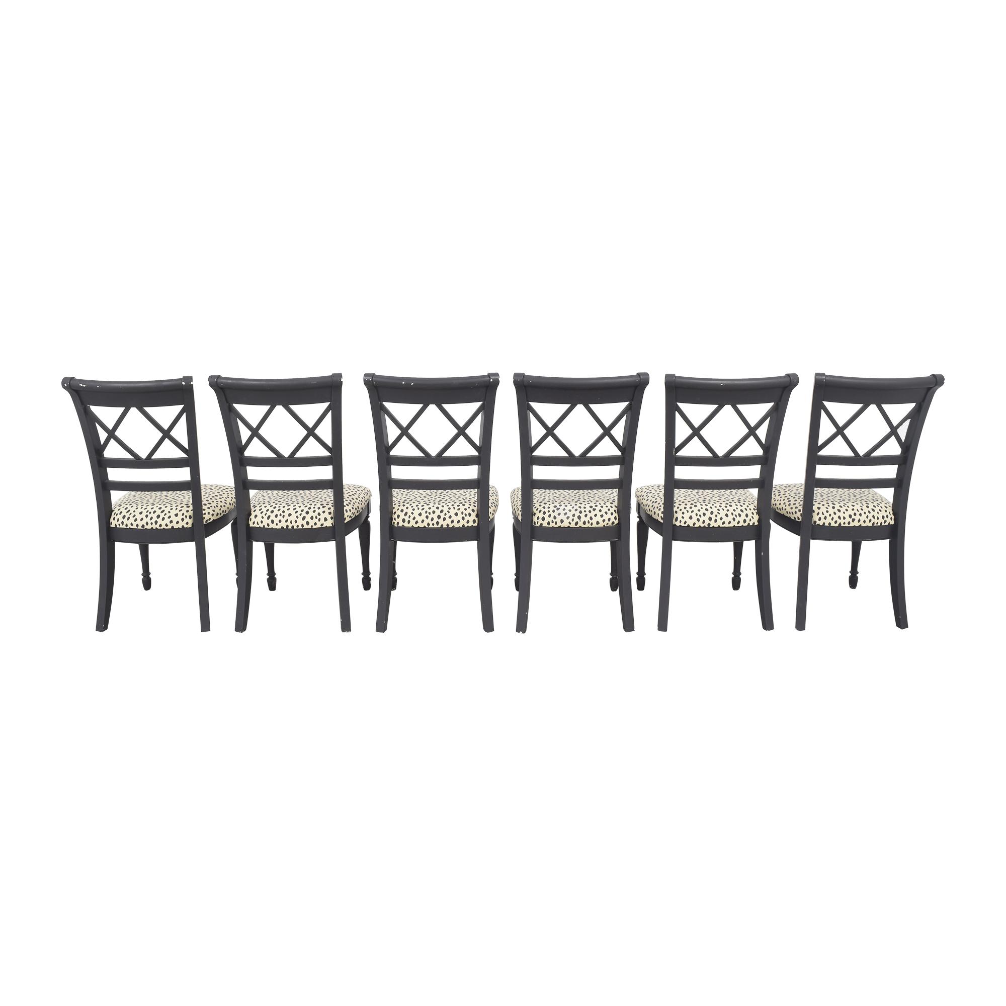 Cresent Furniture Cresent Fine Furniture Dining Chairs black, white