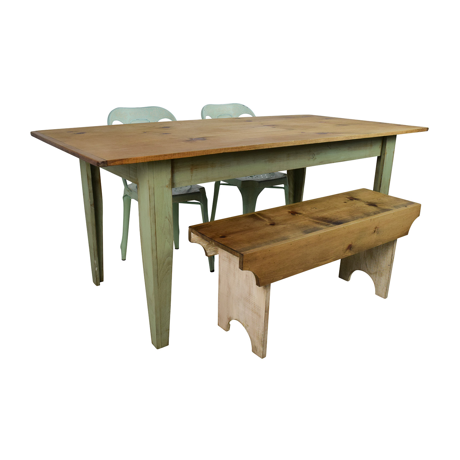34 Off Wayfair And Urban Outfitters Urban Outfitters Rustic Farm Table With Bench And Chairs