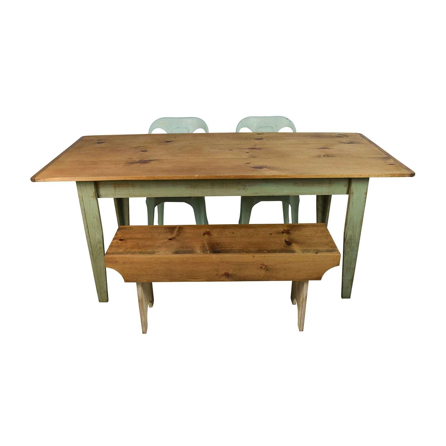 buy Urban Outfitters Rustic Farm Table with Bench and Chairs Wayfair and Urban Outfitters