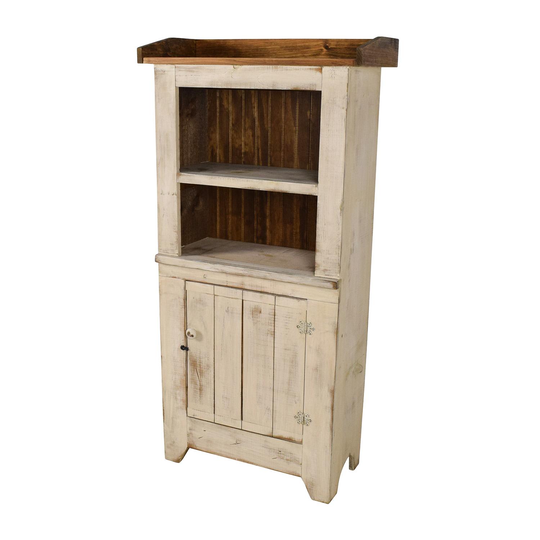 62 off wayfair wayfair good ole fashioned raw wood hutch storage. Black Bedroom Furniture Sets. Home Design Ideas