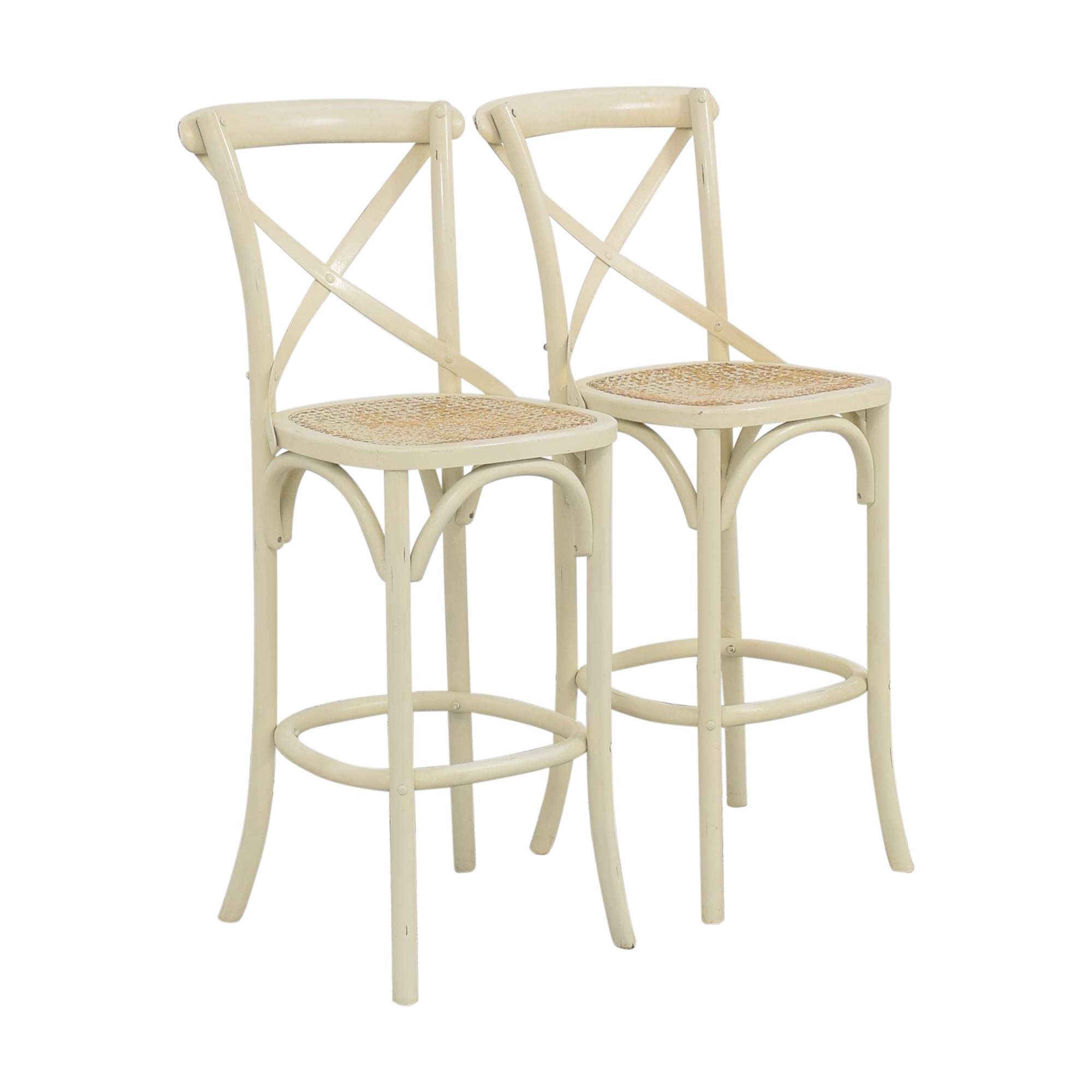 Restoration Hardware Restoration Hardware Hightop Chairs Off White