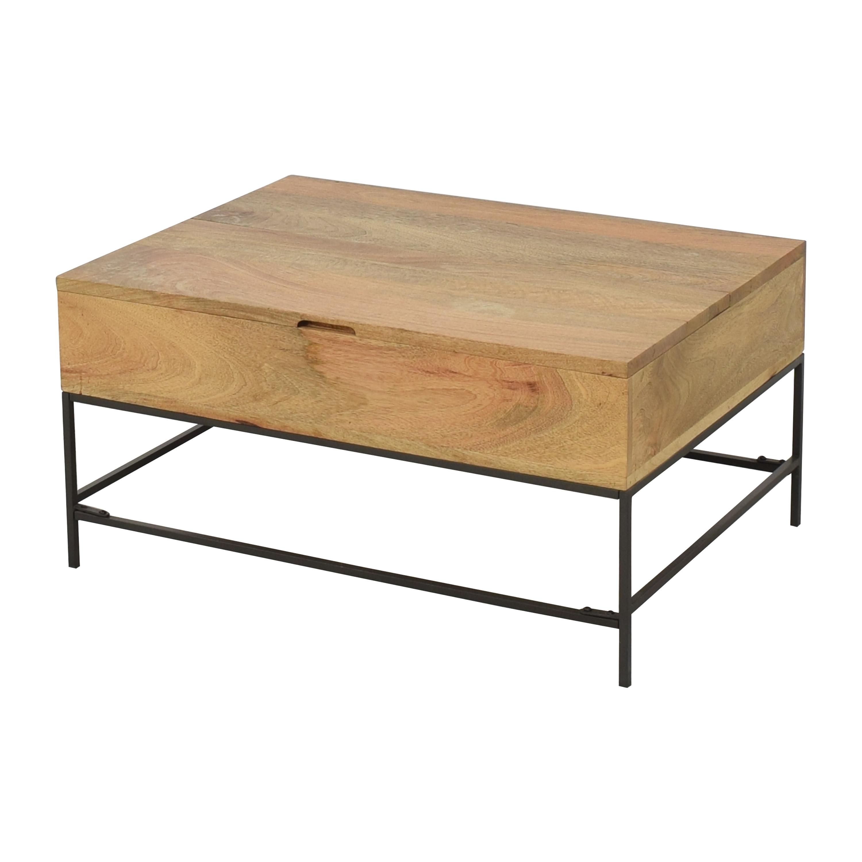 West Elm Industrial Storage Coffee Table sale