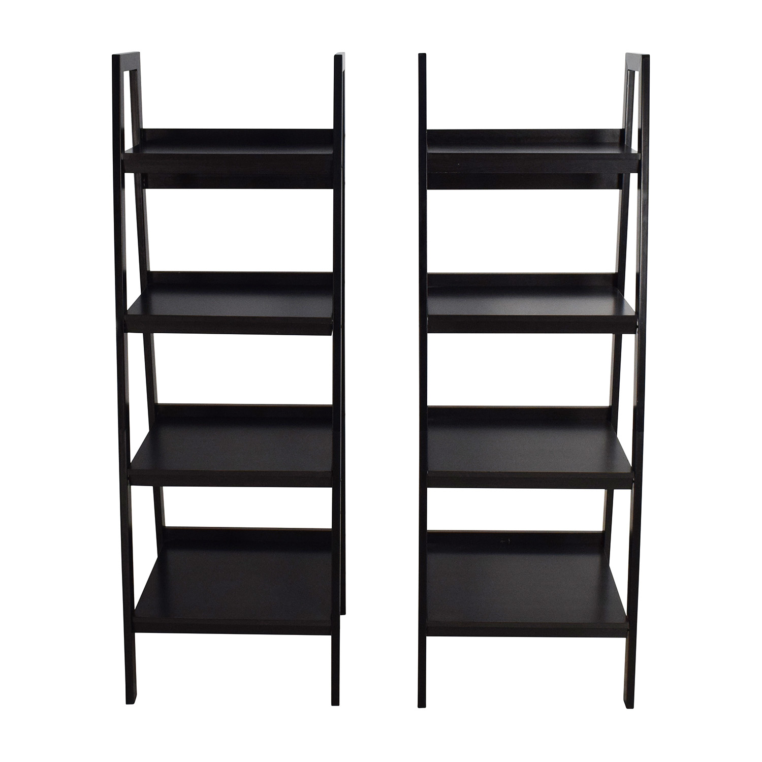 Avenue Greene Avenue Greene Lawrence Black Ladder Frame Bookcase Pair nyc